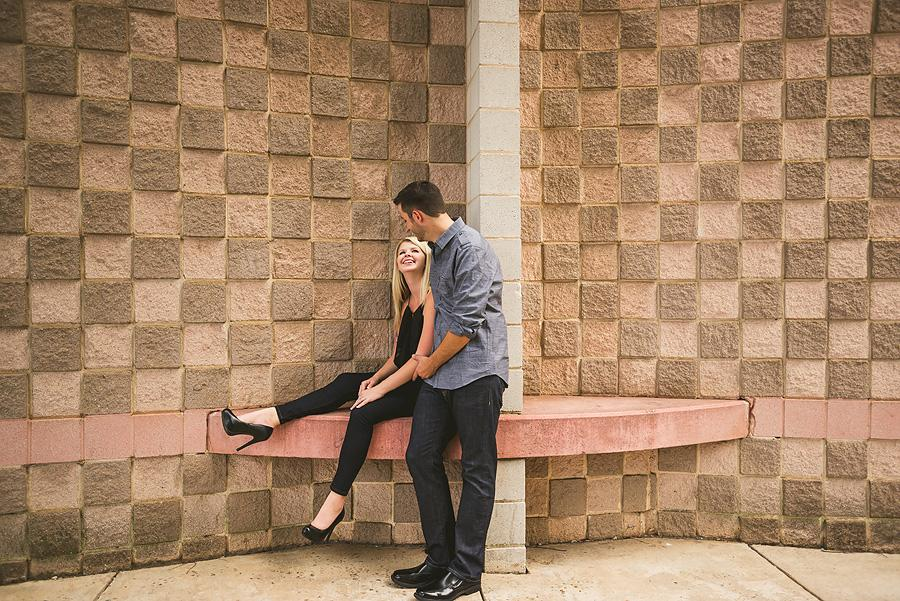 uptown charlotte engagement