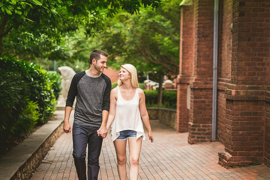 charlotte couple walking uptown