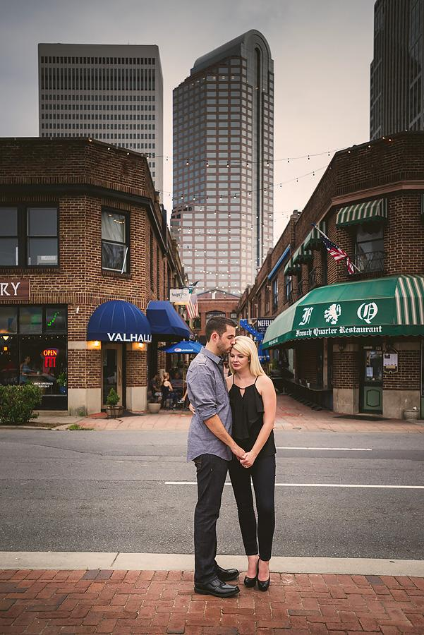 charlotte uptown engagement