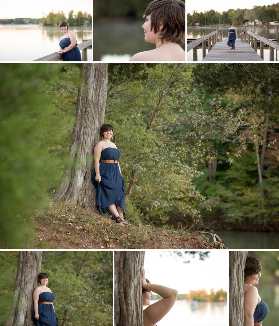 senior photos on lake