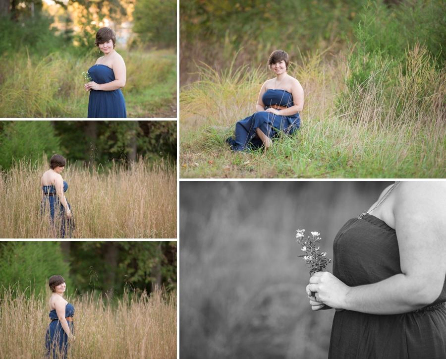 senior photos in field