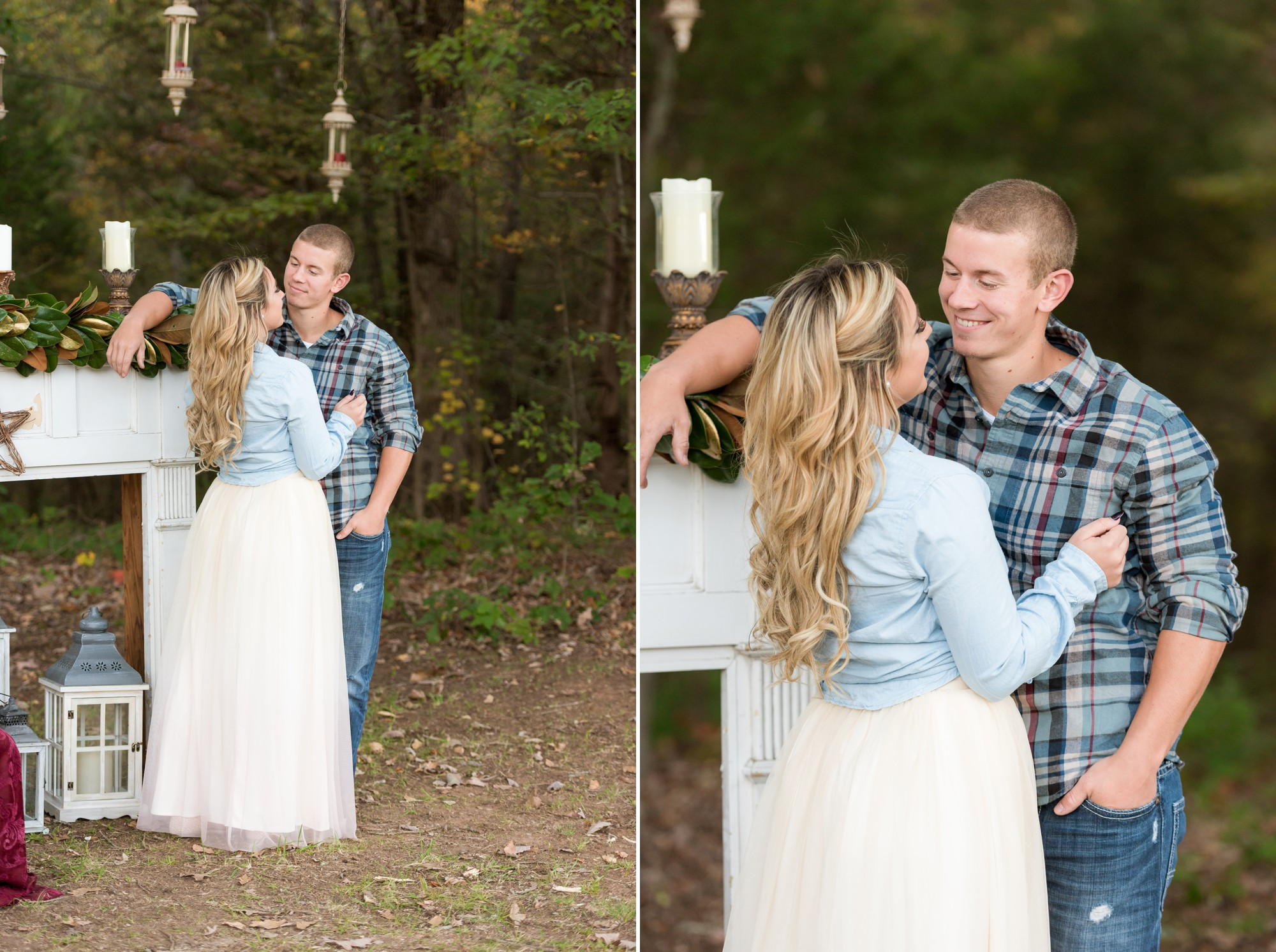 rustic engagement session location