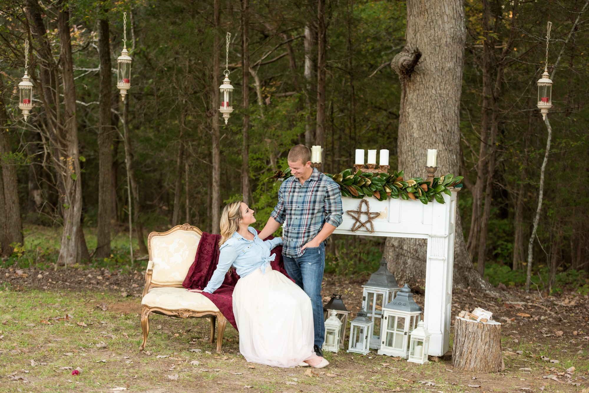 tulle skirt engagement session