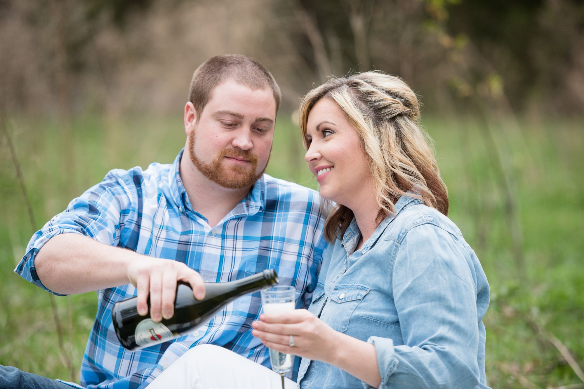 picnic engagement session at charlotte farm