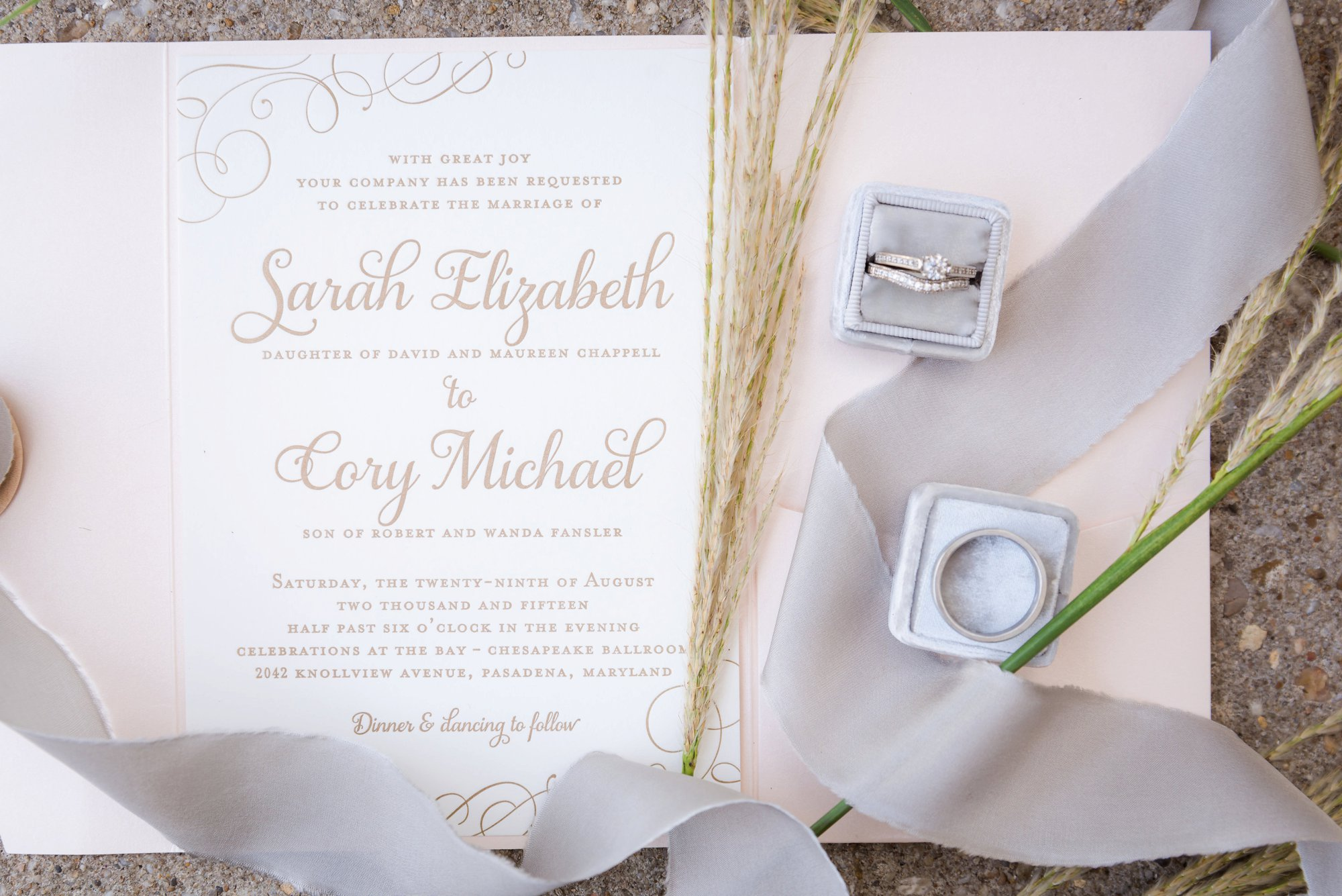 charlotte wedding invitation photo