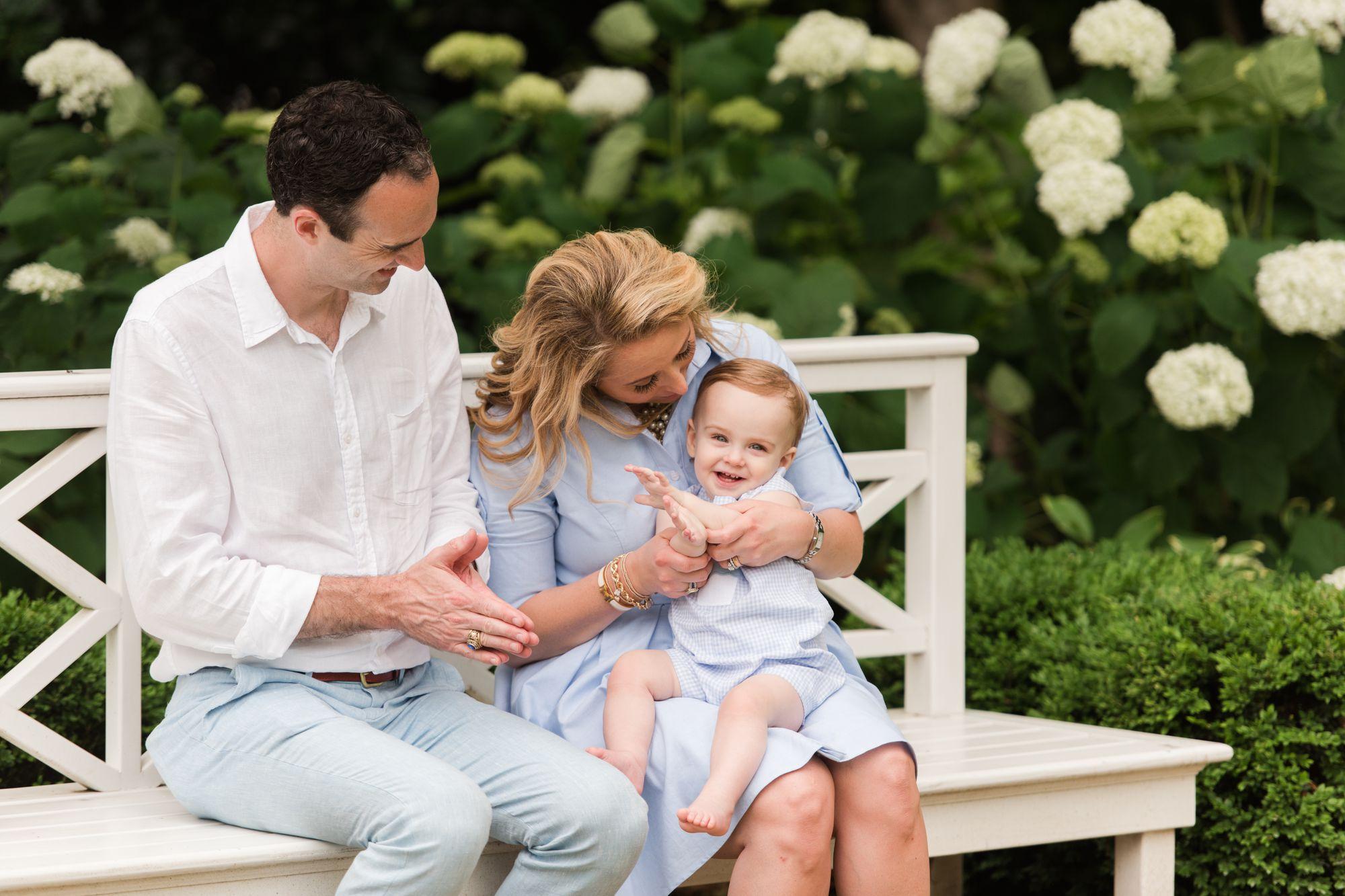 Family photos at Duke Mansion