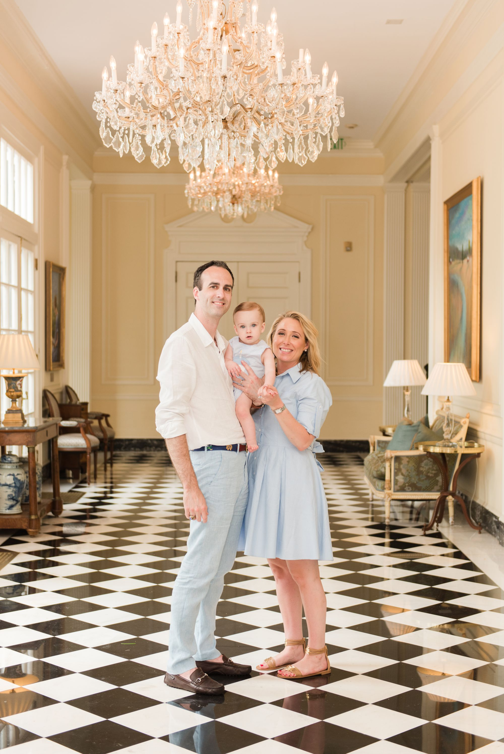 family at Duke Mansion