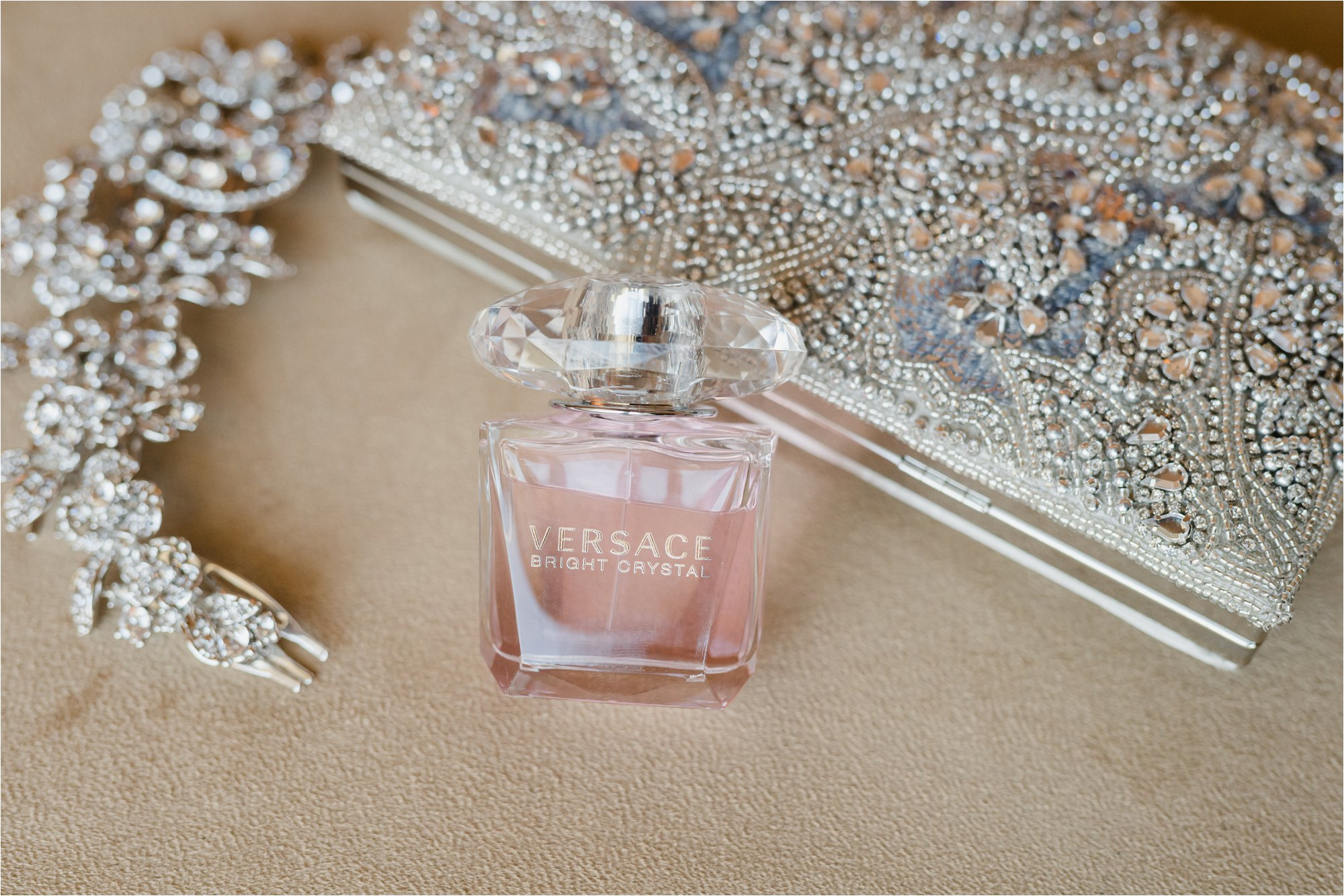 Versace Wedding Perfume and clutch