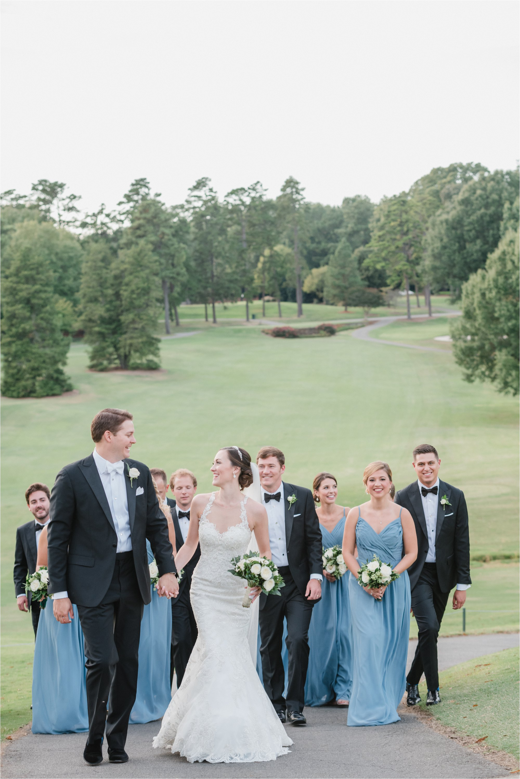 Wedding Party at Greensboro Country Club Course
