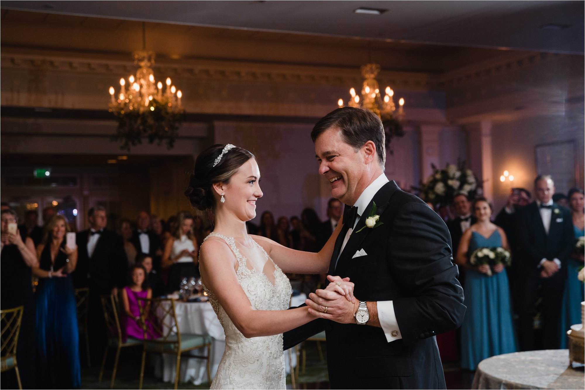 wedding father daughter dance at greensboro country club