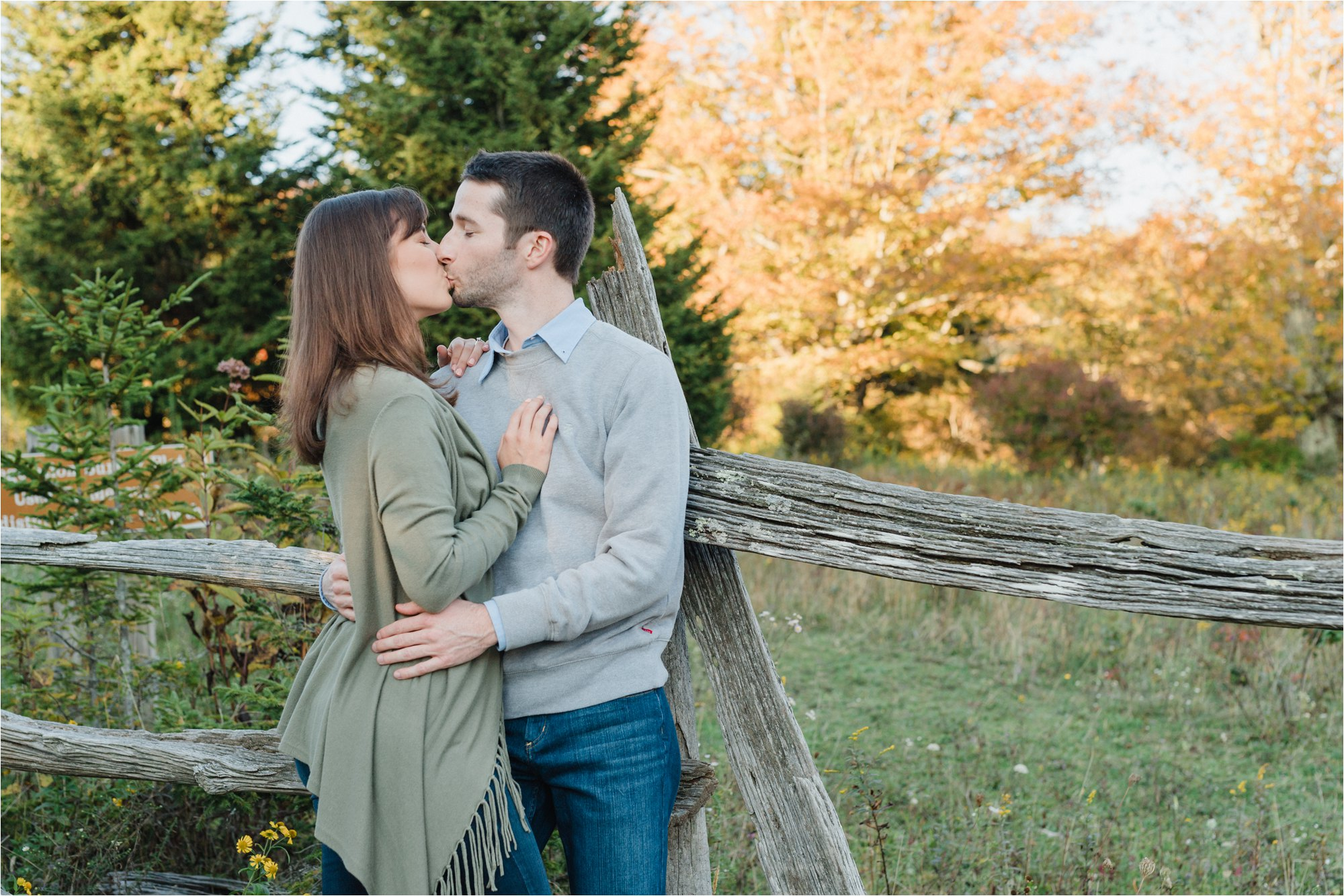 Engagement Photos Couple Kissing