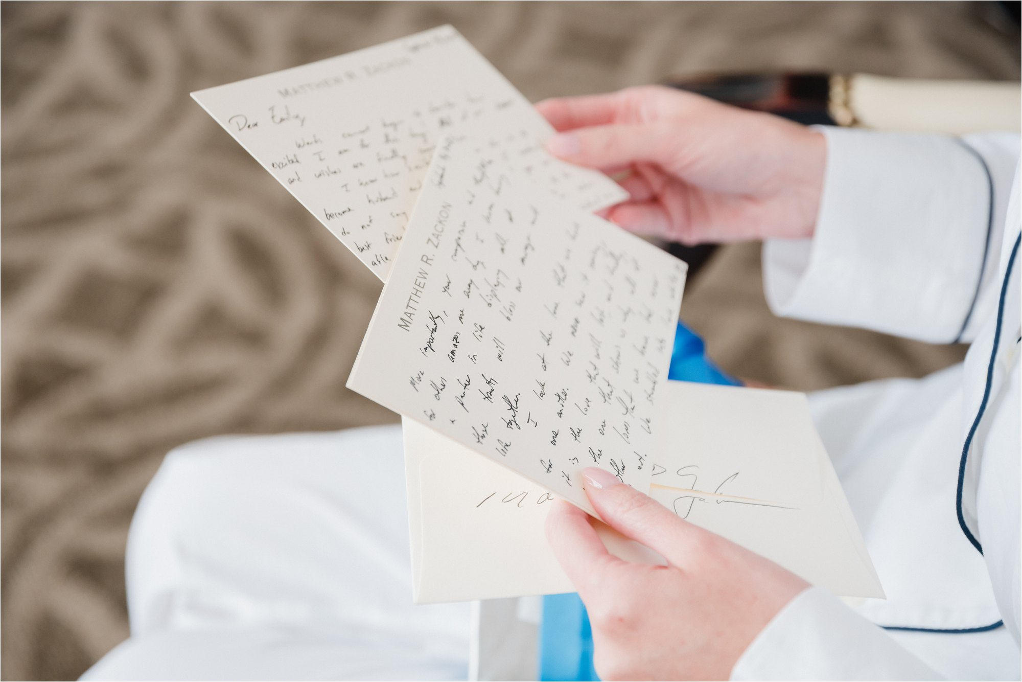 Groom's letter to bride