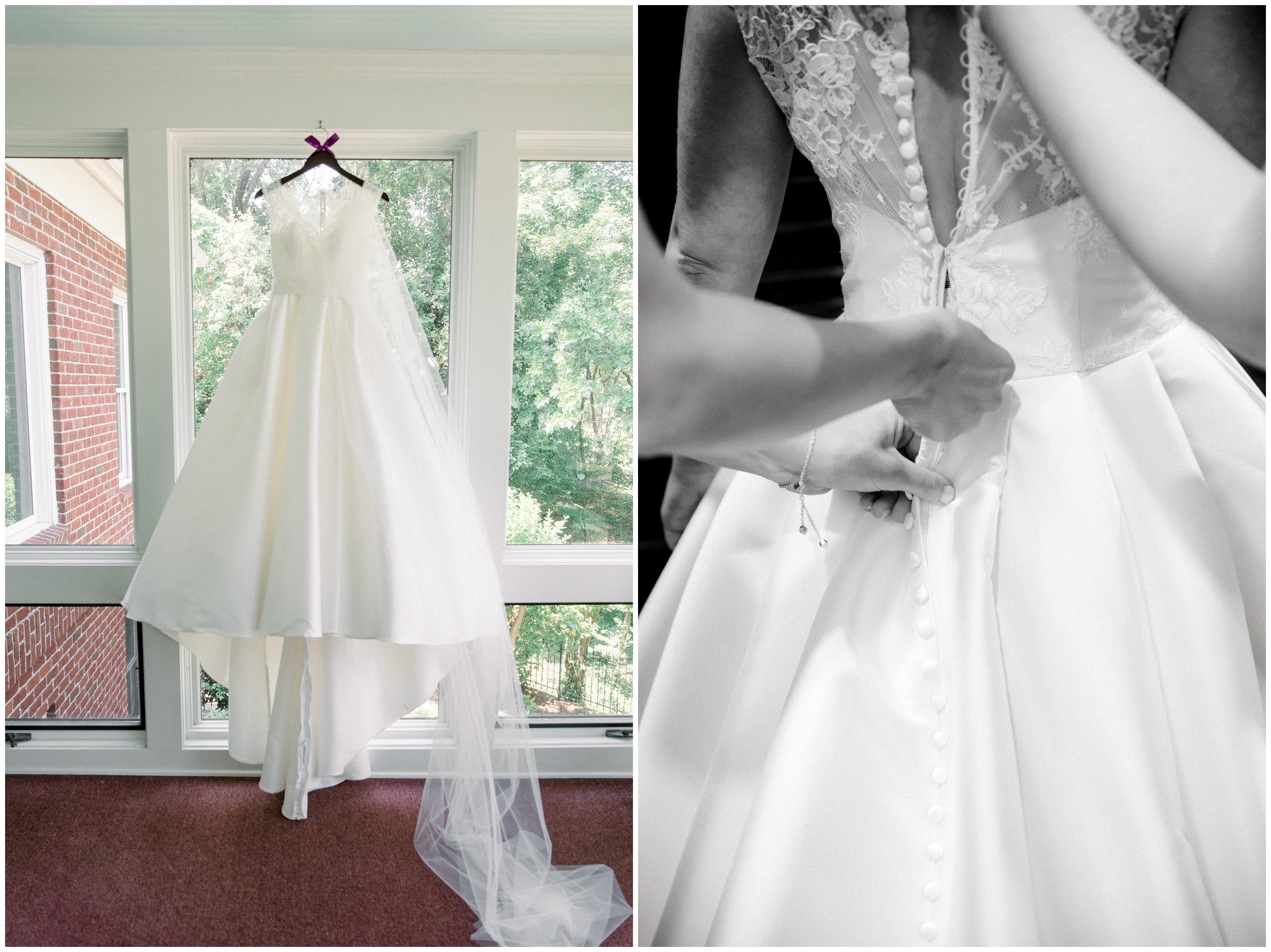 timeless wedding dress and details