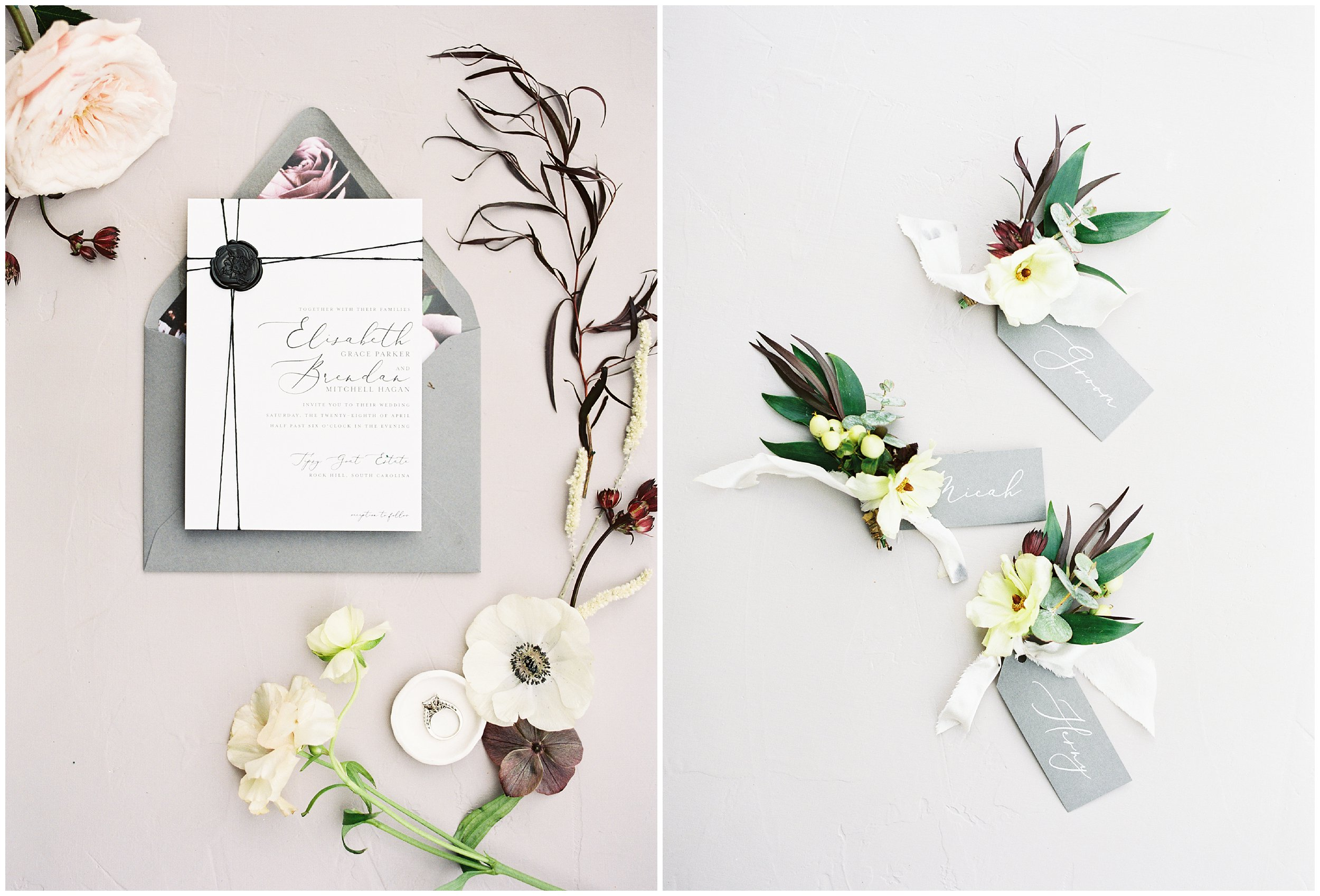 gorgeous charlotte wedding details