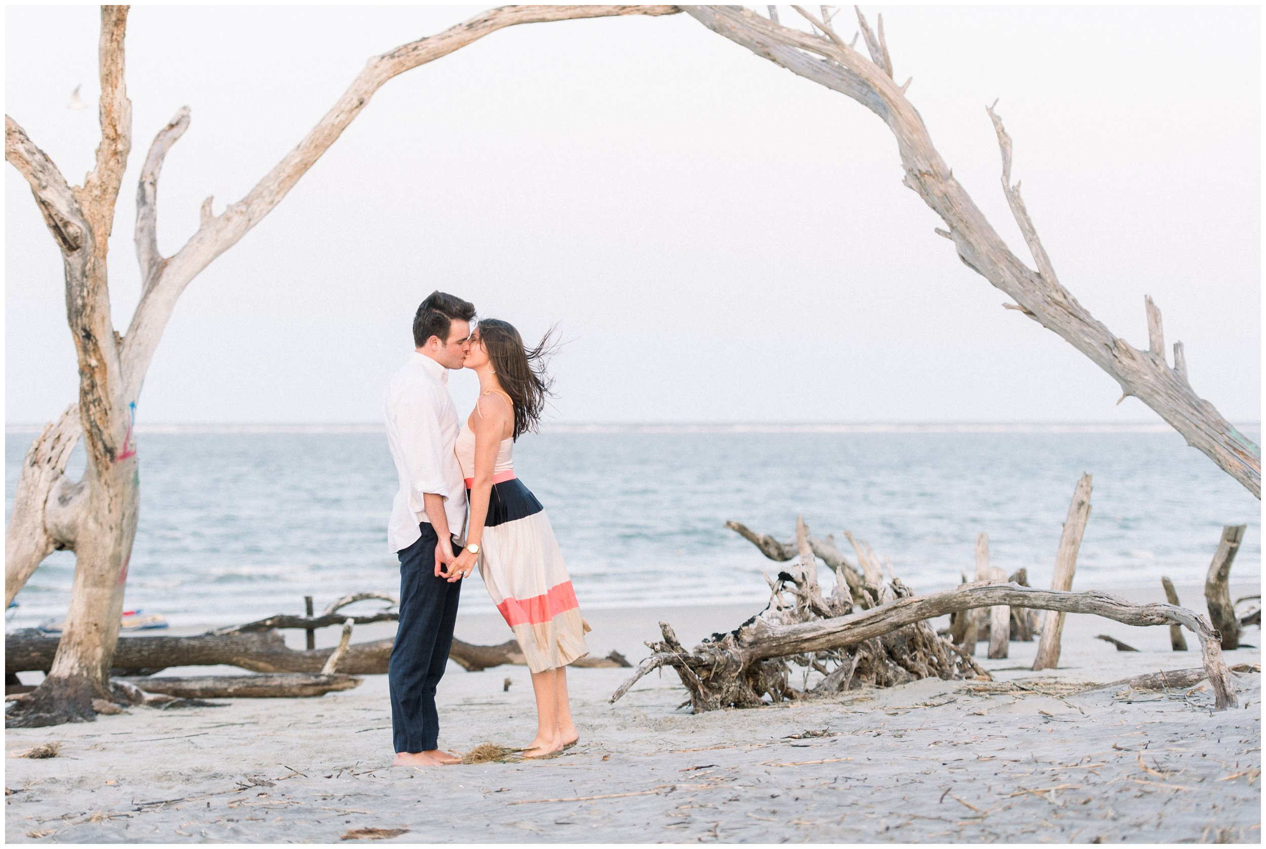 charleston folly beach engagement