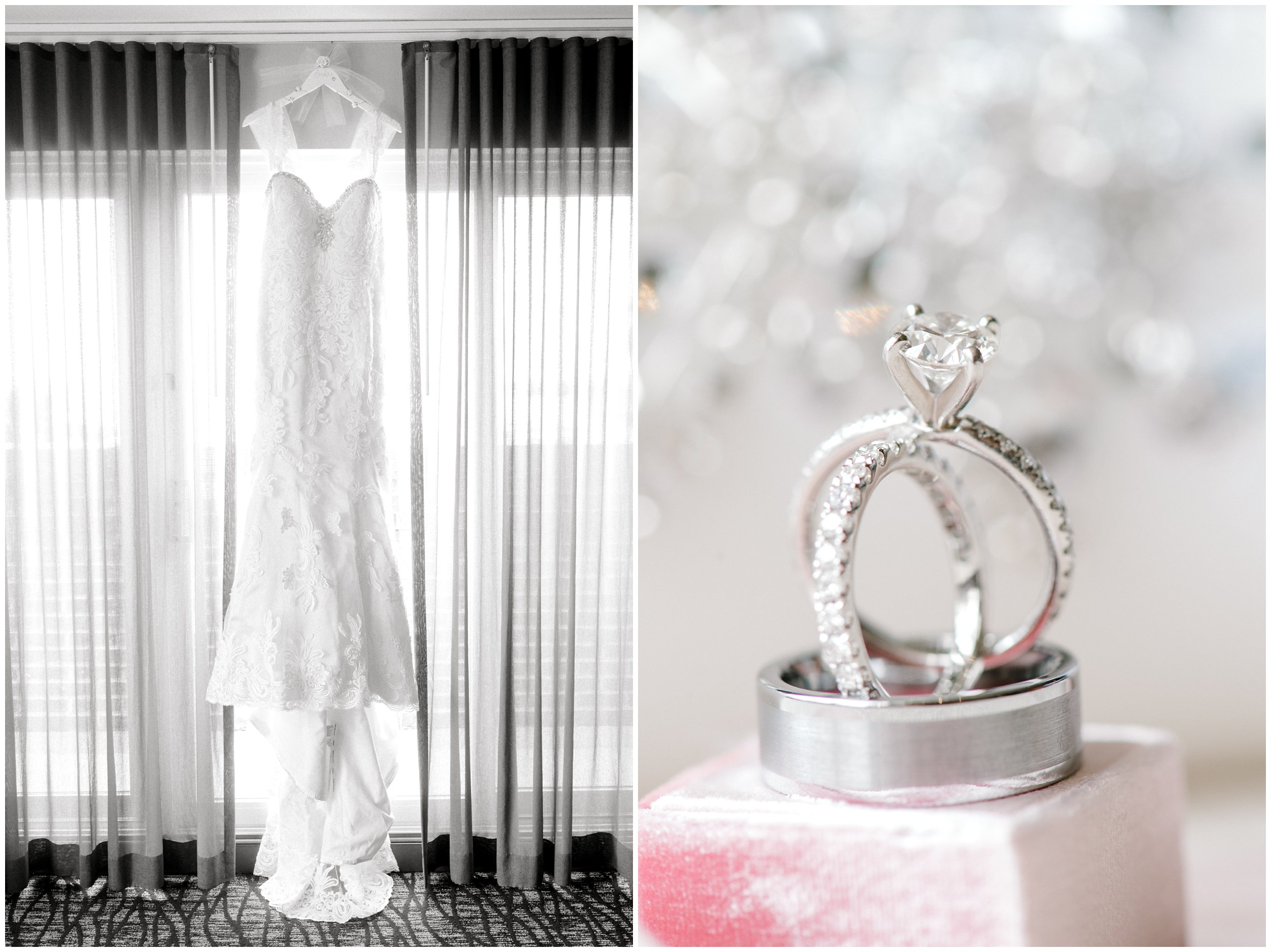 Gorgeous wedding dress and ring for maryland wedding