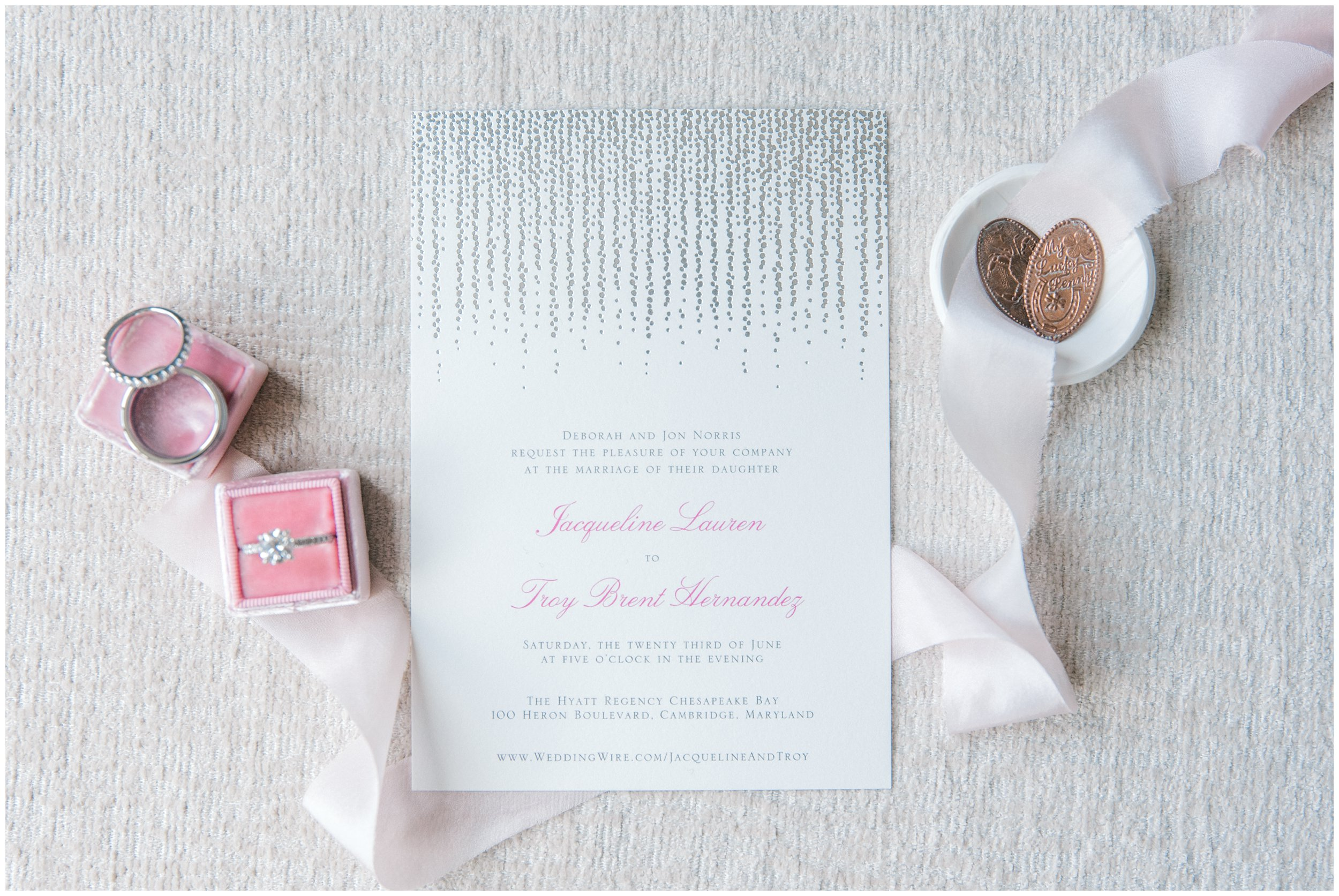 Hyatt Regency Chesapeake Bay Wedding stationery