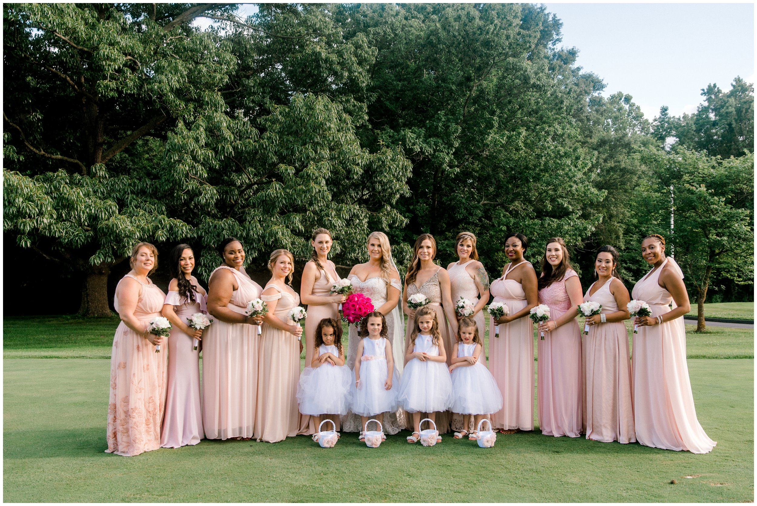 Bridal party with flower girls Hyatt Regency Maryland Wedding