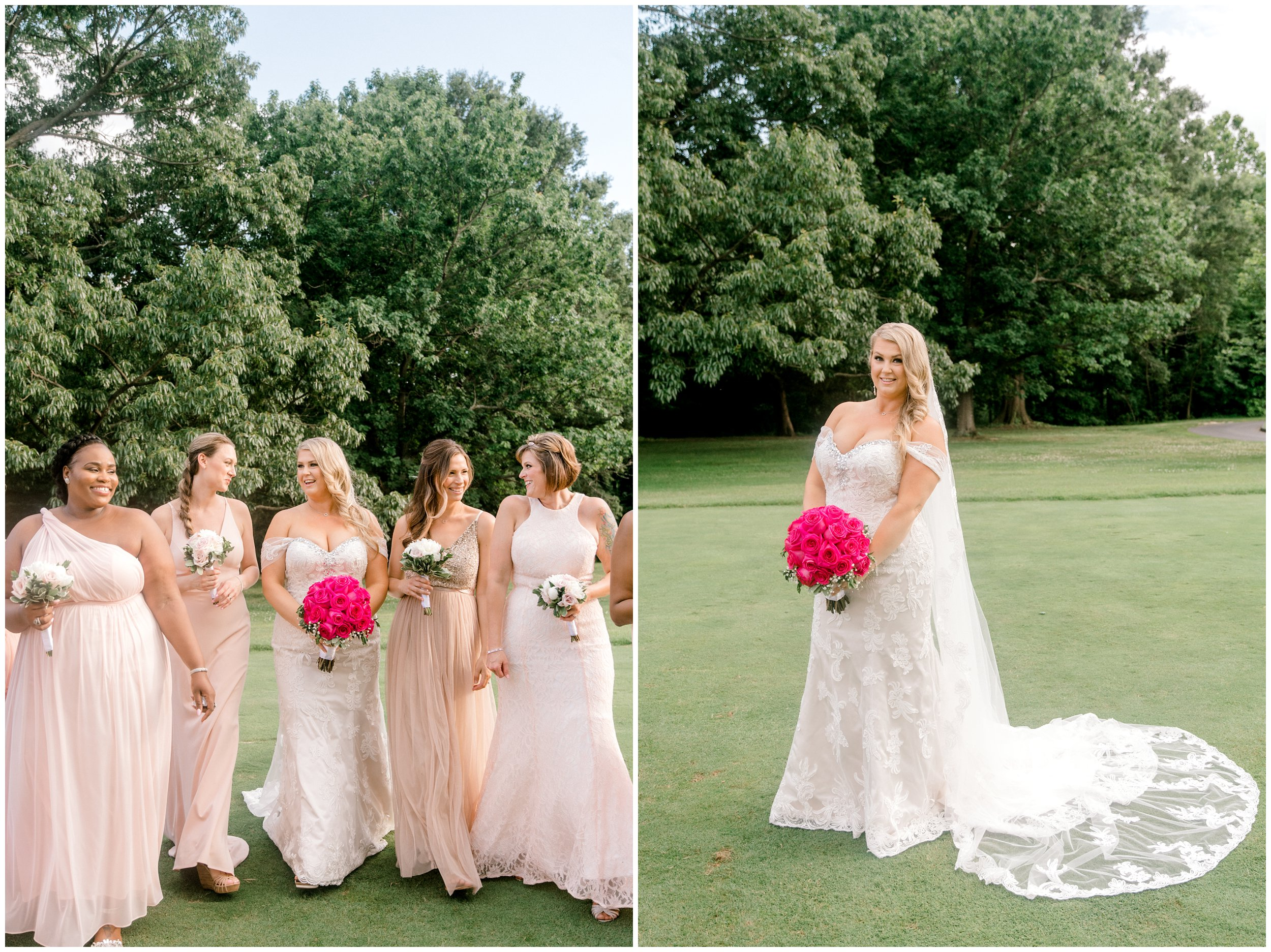 Bridal party, beautiful bridal portrait after ceremony