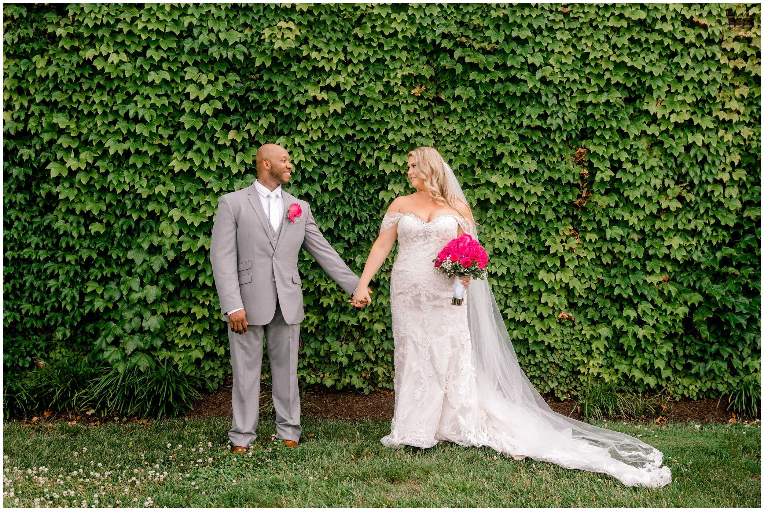 Just married couple Maryland wedding