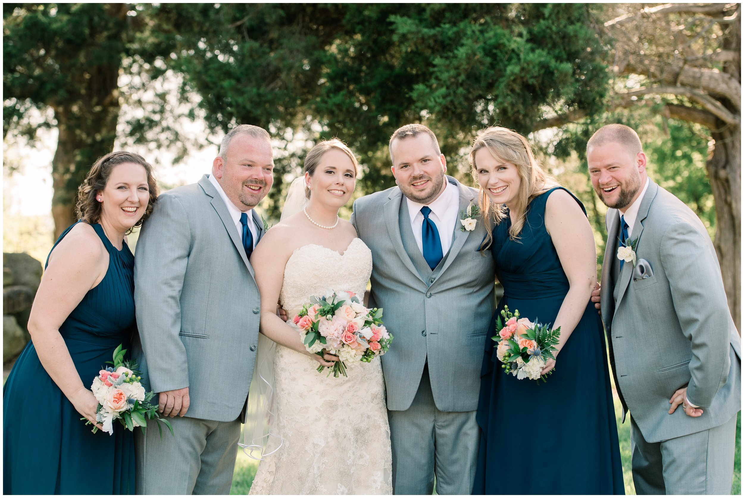 bridal party after charlotte wedding ceremony