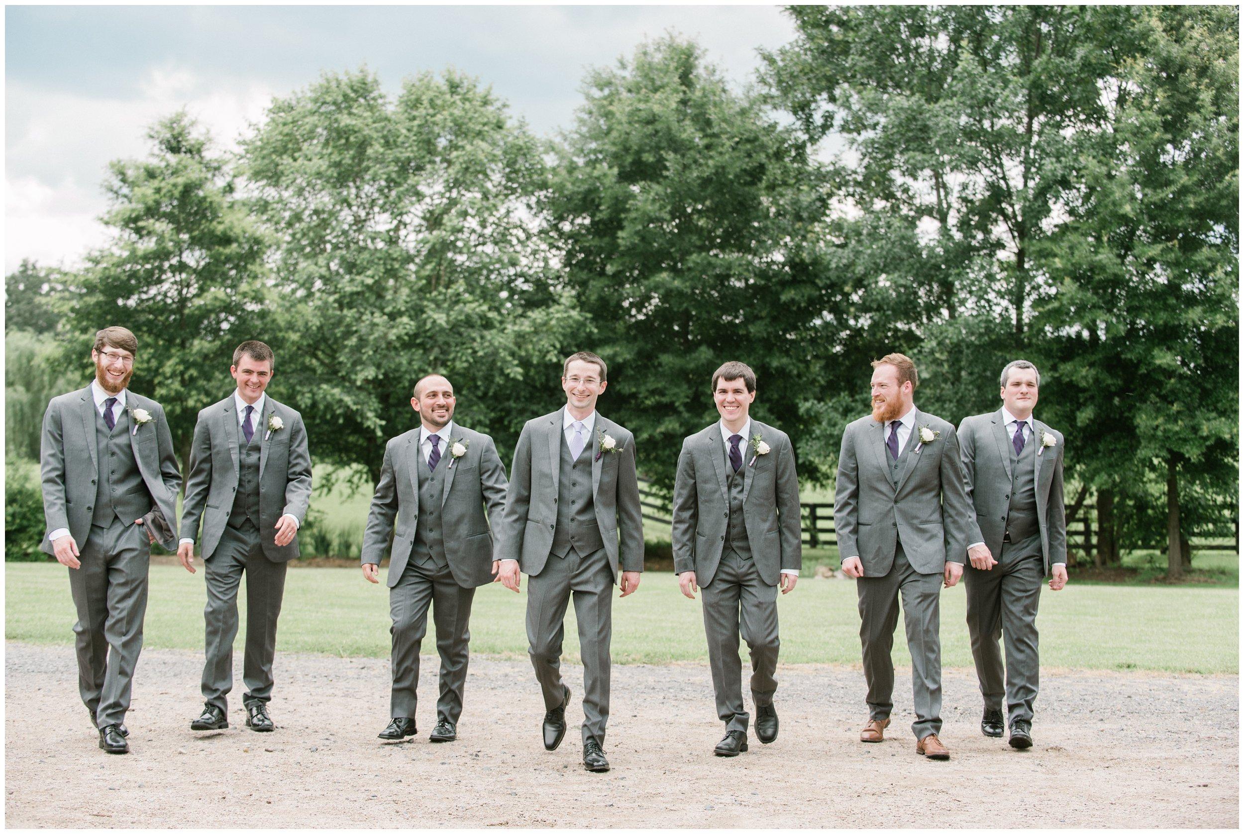 groom with groomsmen informal portraits