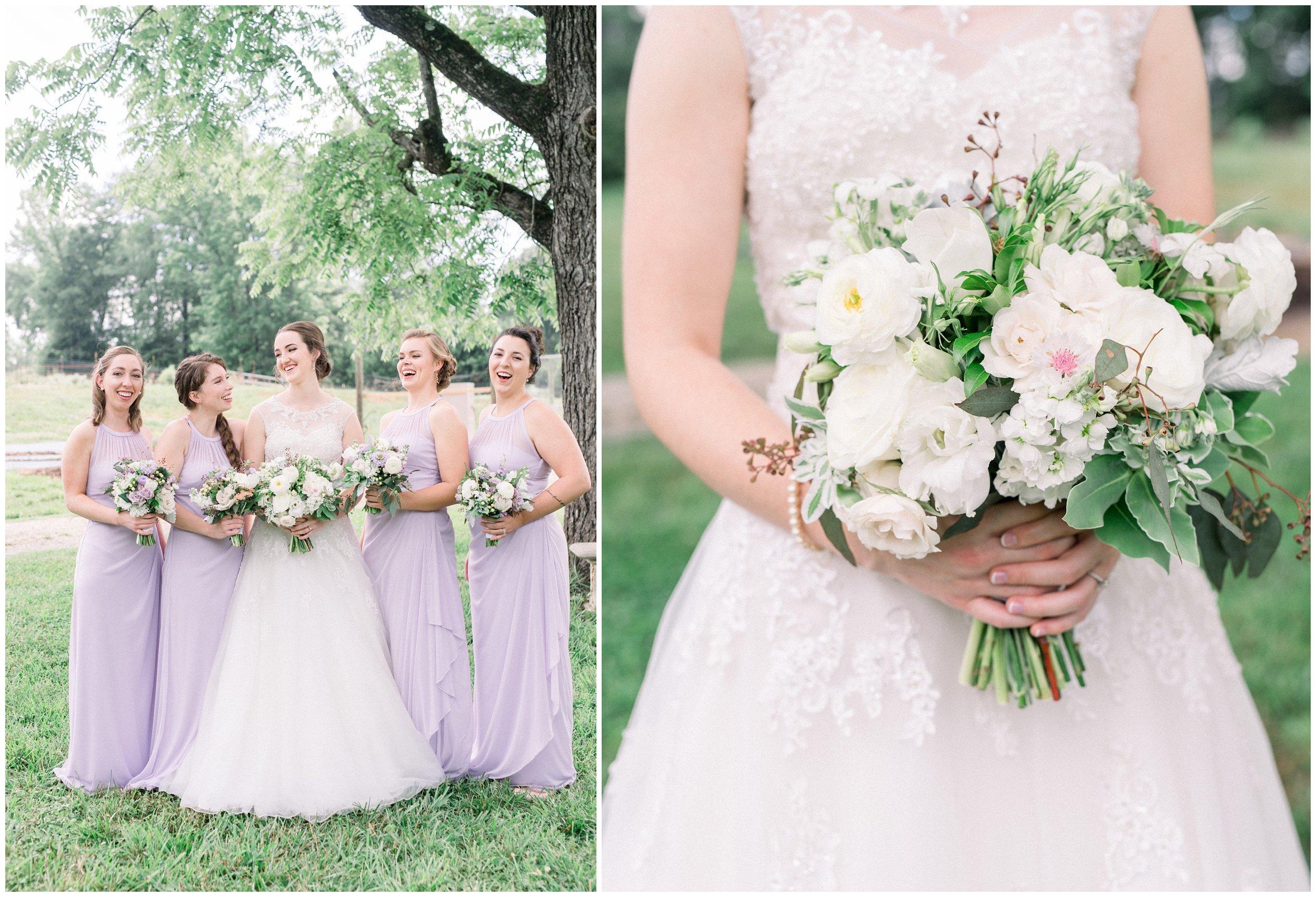 bridal party lavender details bouquet close up rock hill