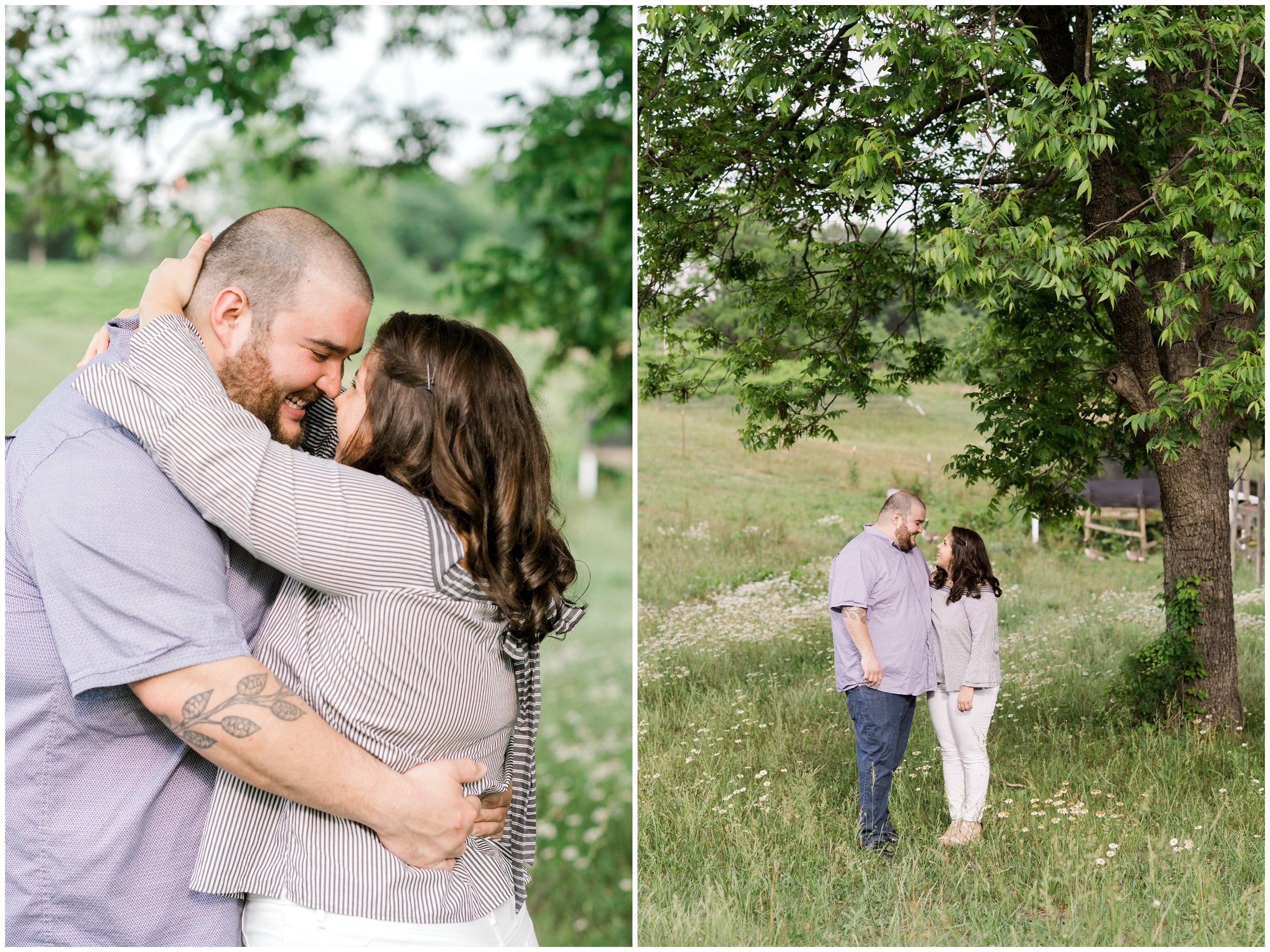 treehouse vineyard engagement shoot