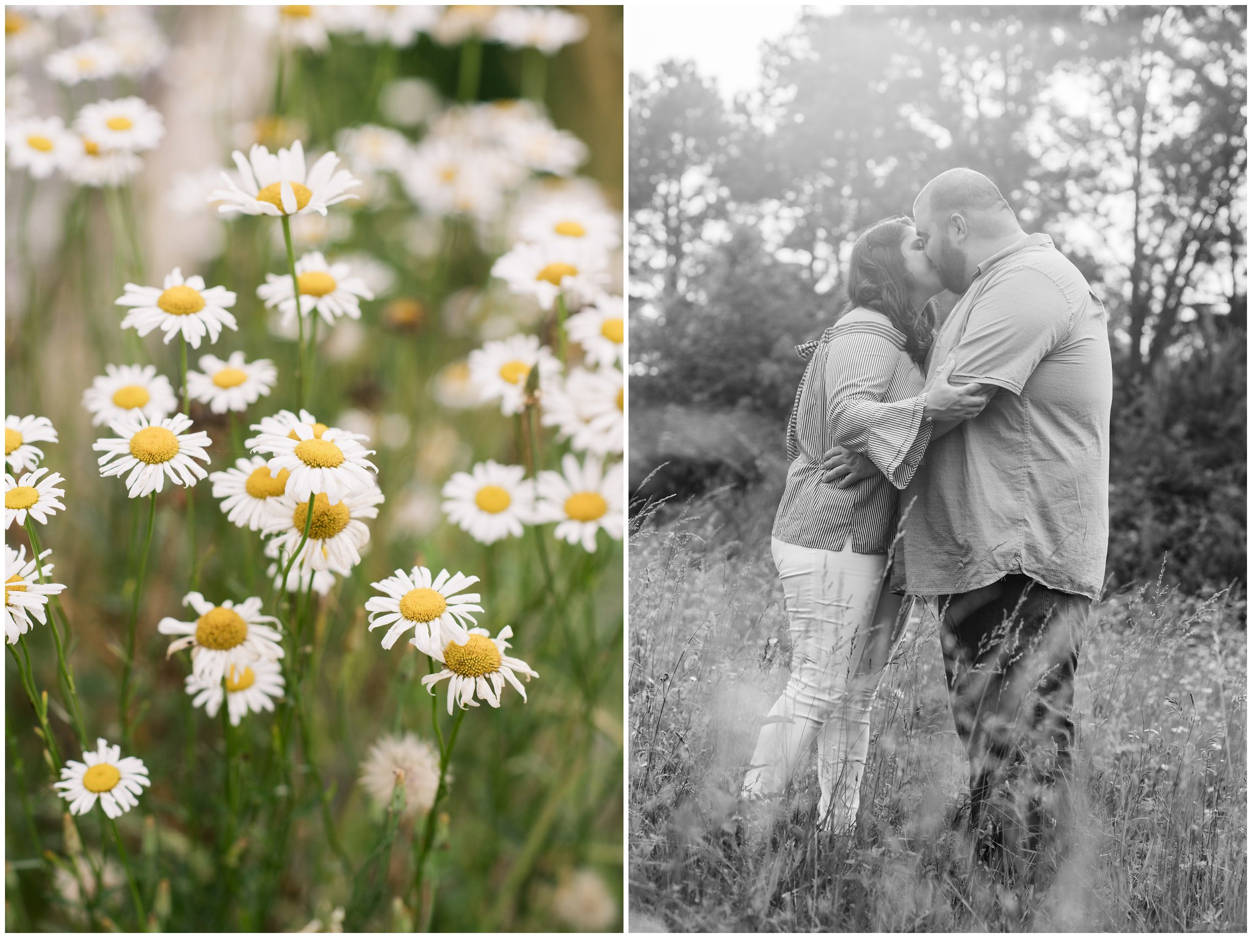 wildflowers and engagement photos