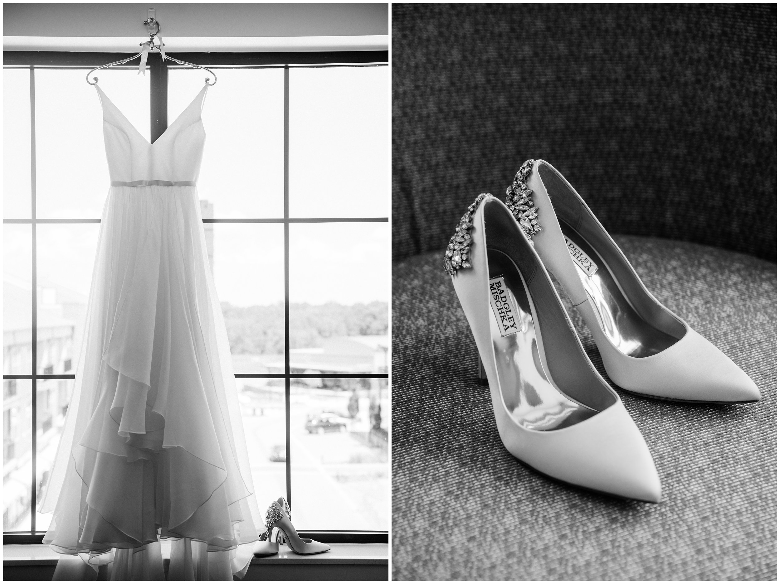 Wedding dress and shoe detail