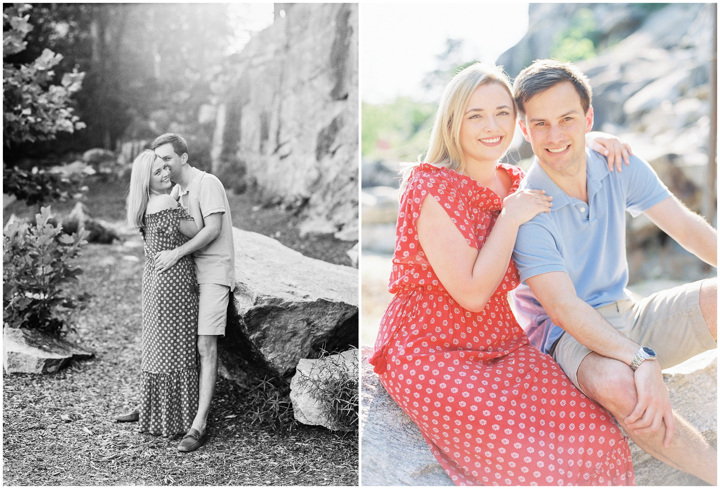 Engagement pictures at sunset NC wedding photographer