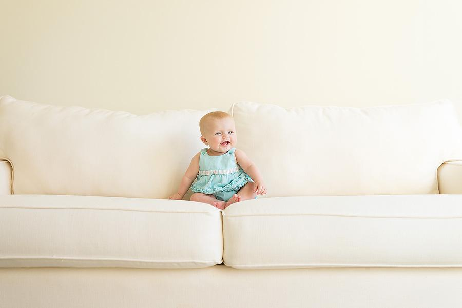 Baby on couch