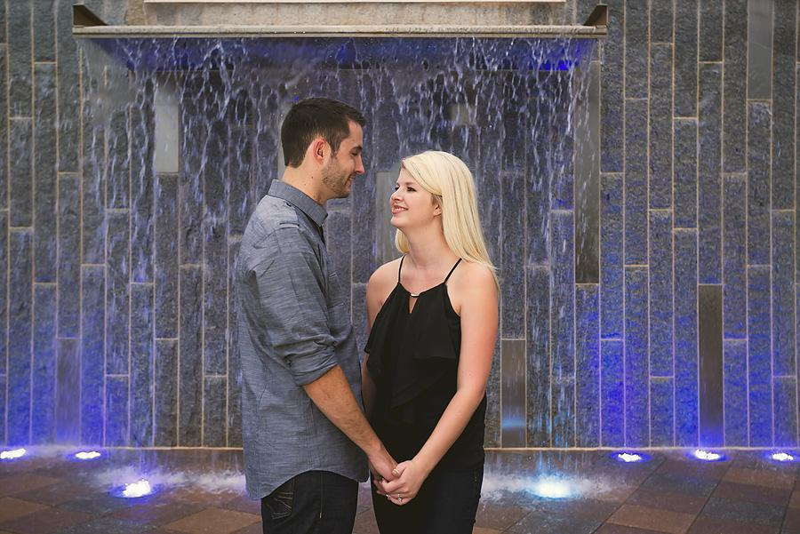 charlotte fountain engagement