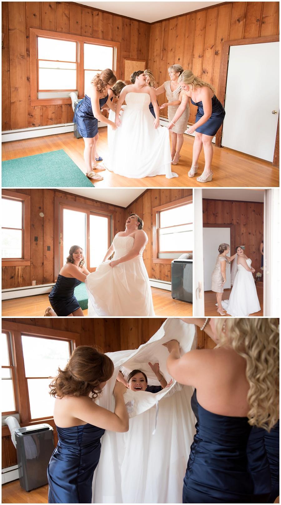 bridesmaids getting ready wedding photos