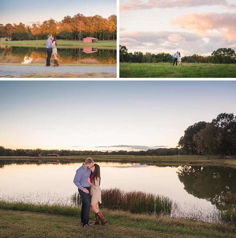 sunset engagement at brusharbor farm