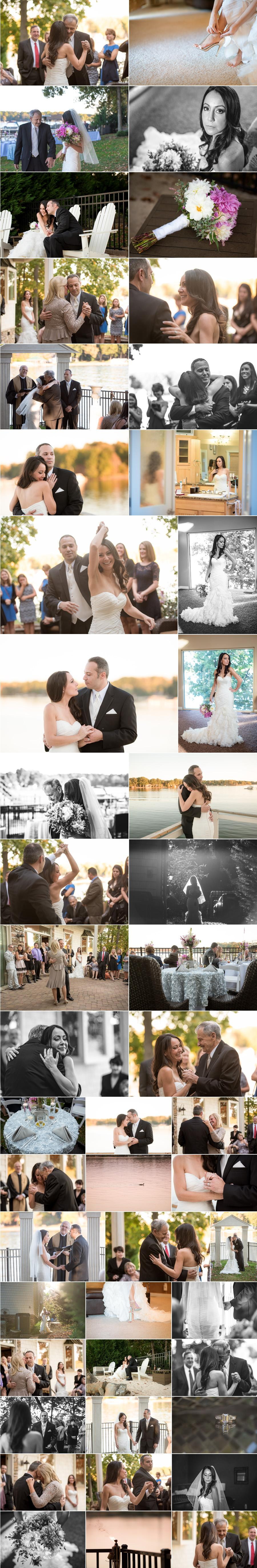 intimate Lake Norman wedding