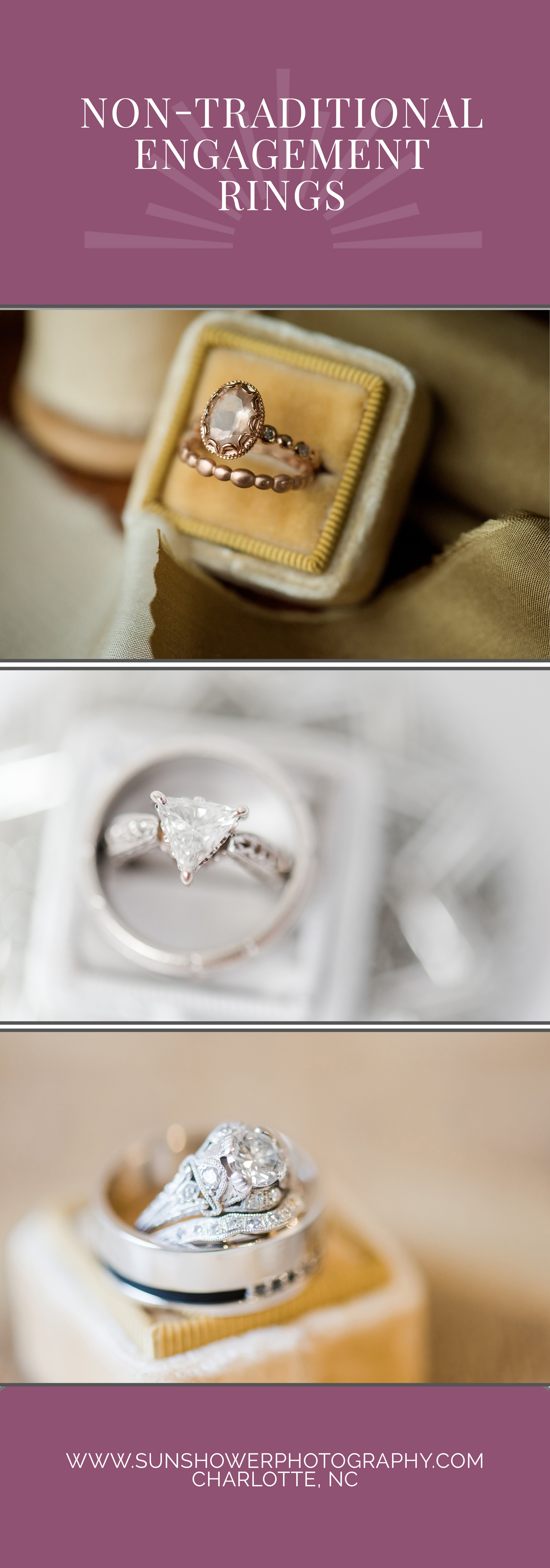 non-traditional engagement ring on pinterest
