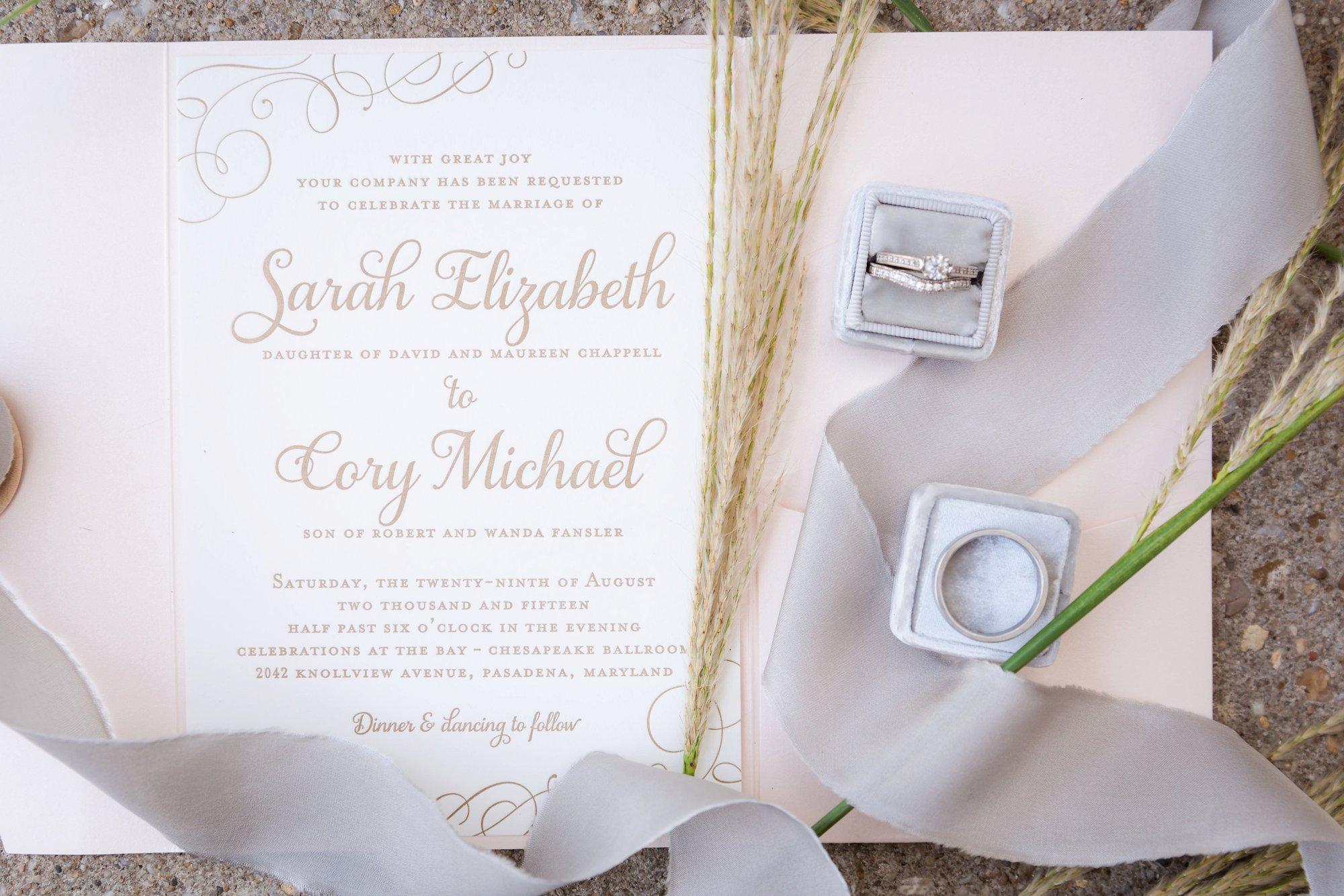 charlotte wedding invitation photo