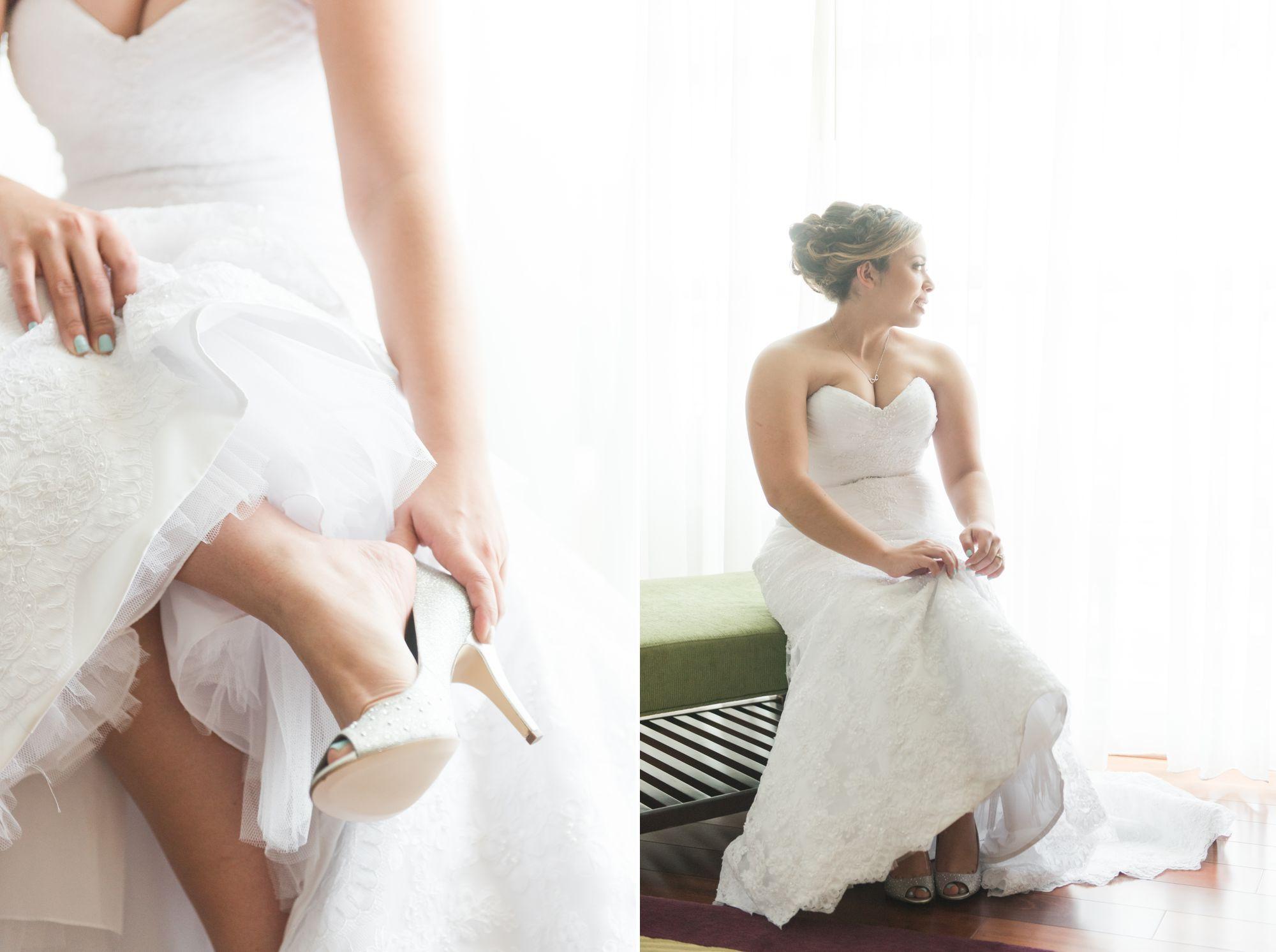 bride in bright window picture