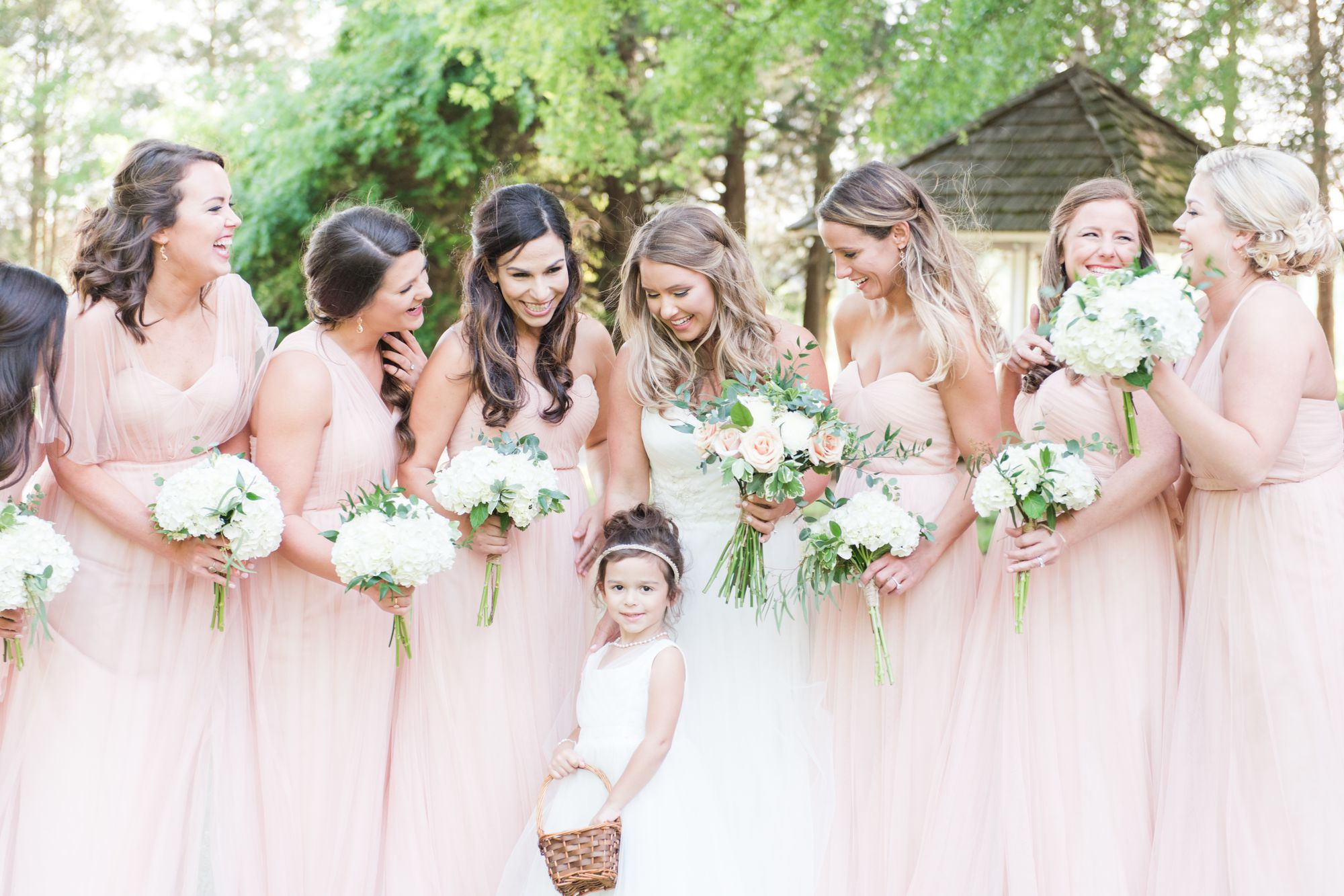 fun bridesmaid pictures at charlotte nc wedding