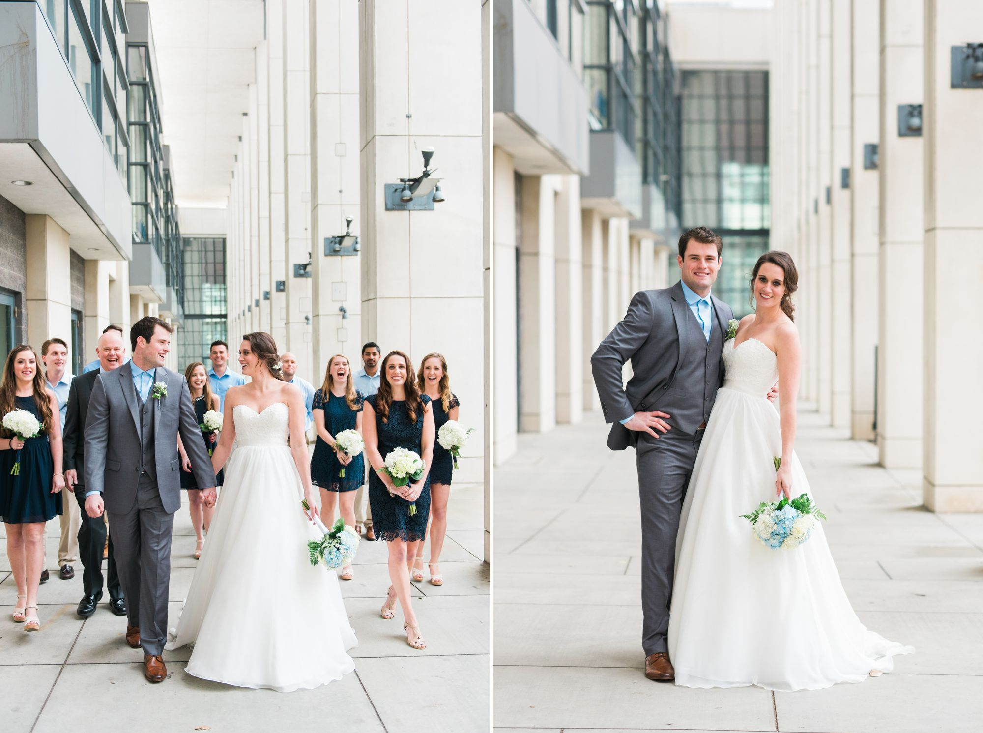 uptown charlotte rainy wedding day