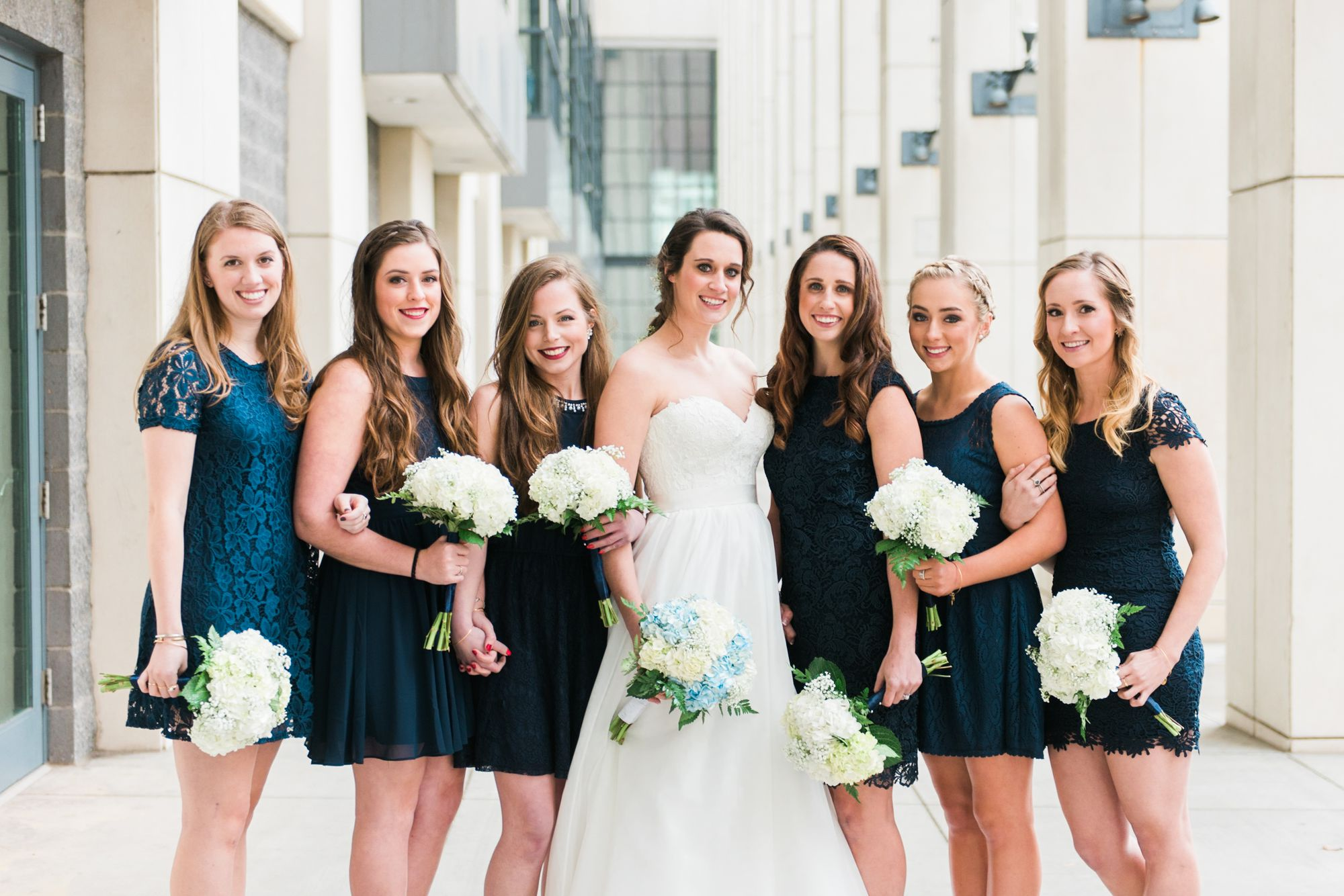 bridesmaids uptown charlotte wedding picture
