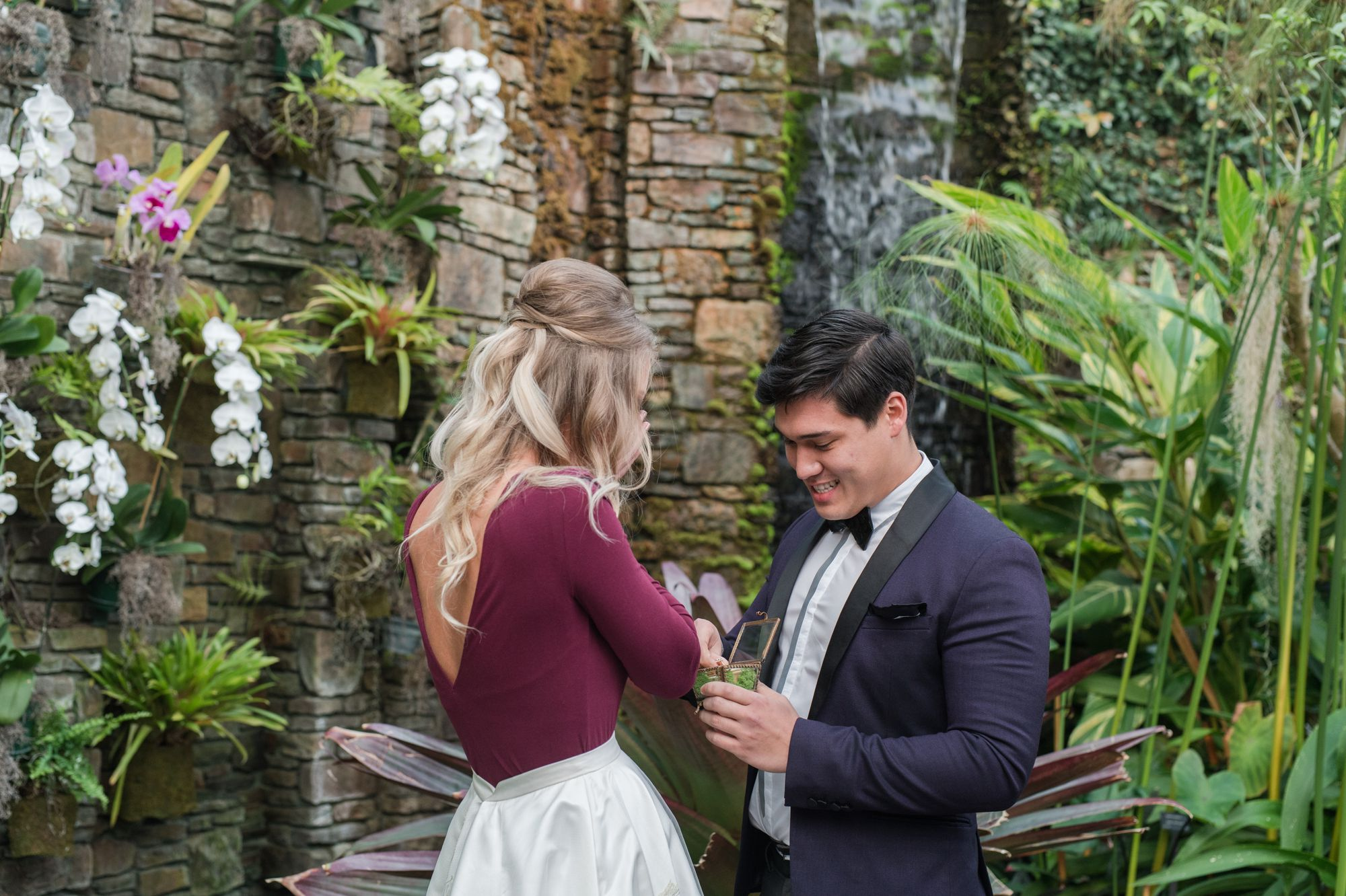 daniel stowe botanical garden romantic wedding proposal