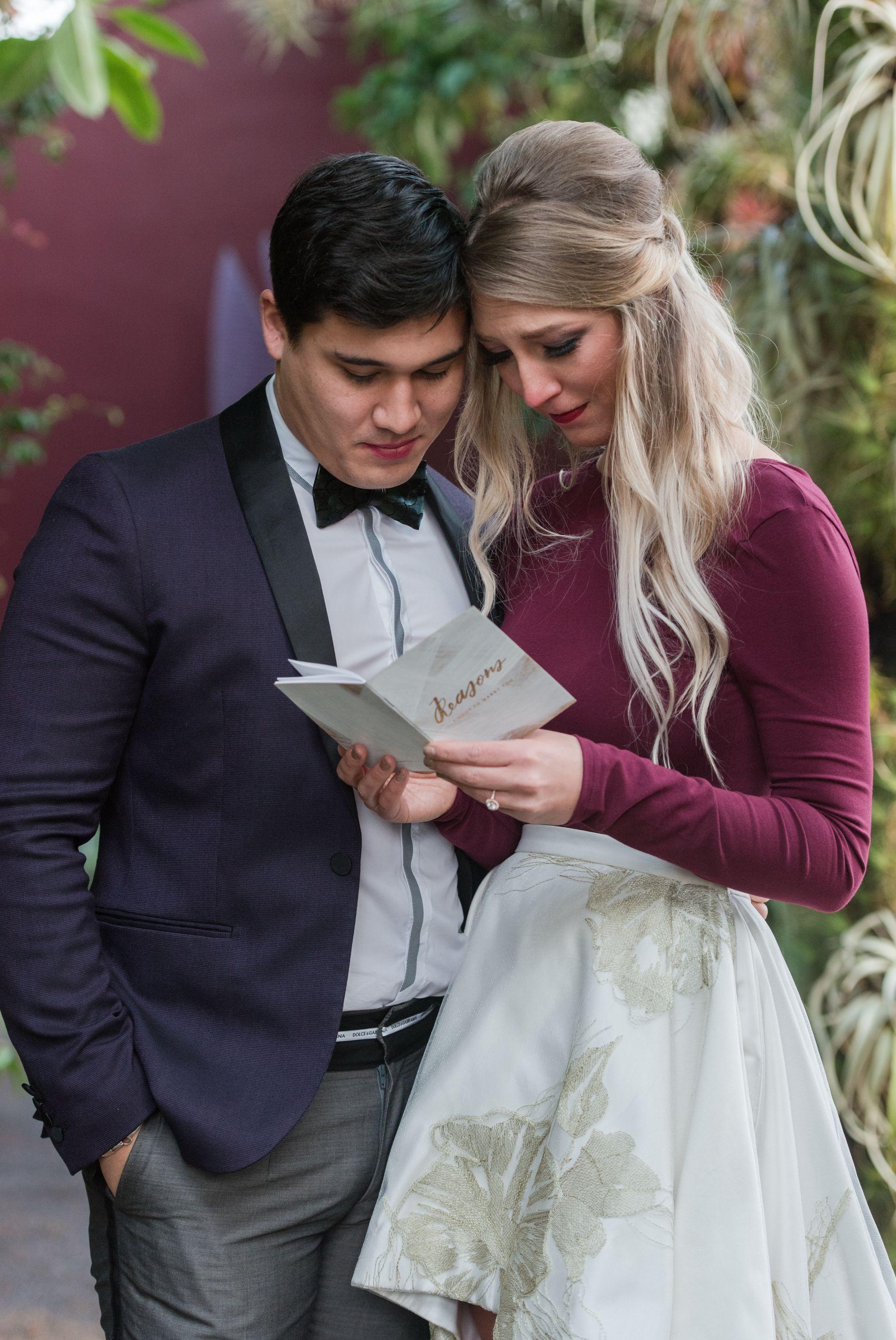 romantic wedding proposal