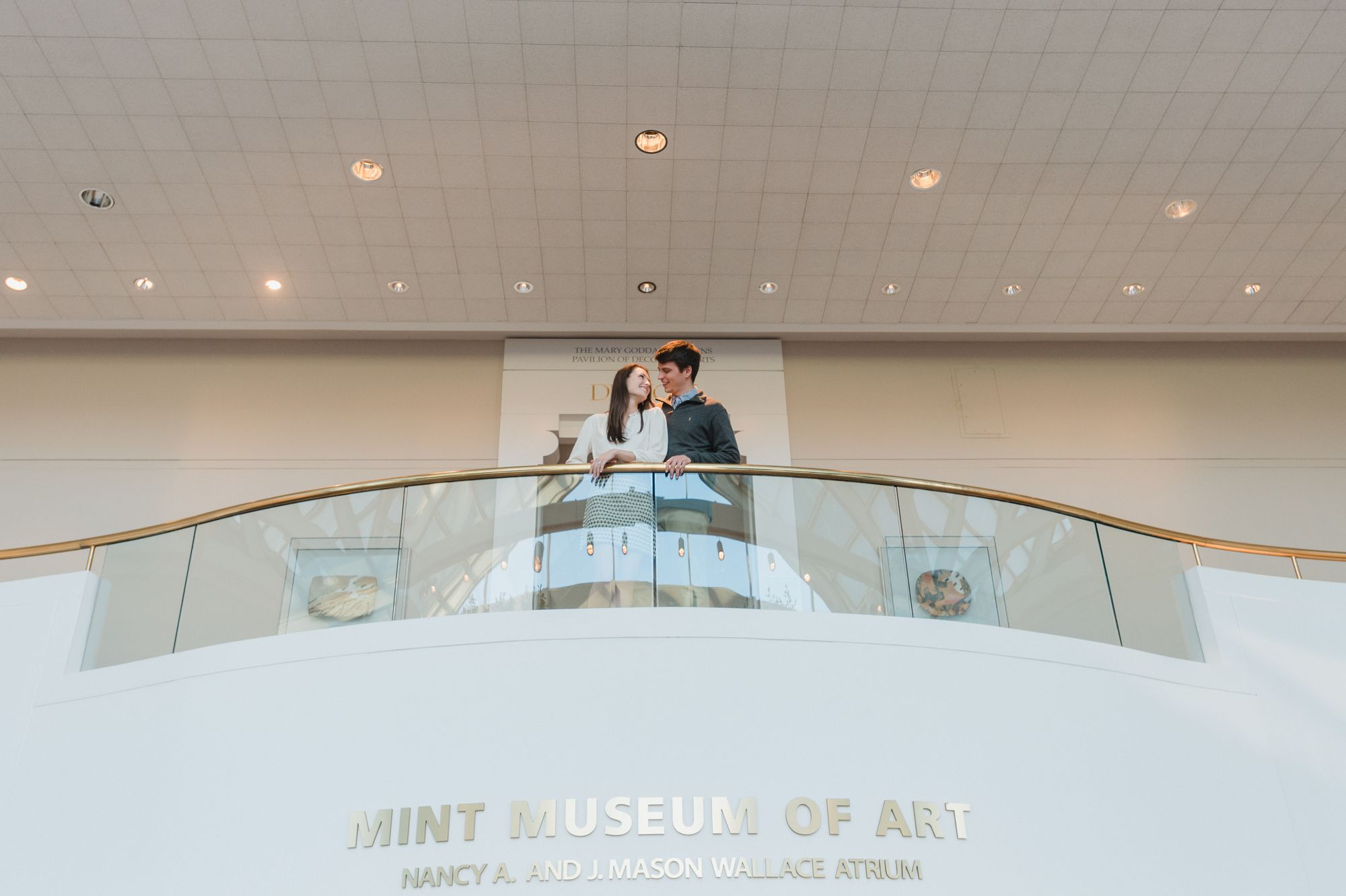 mint museum engagement pictures