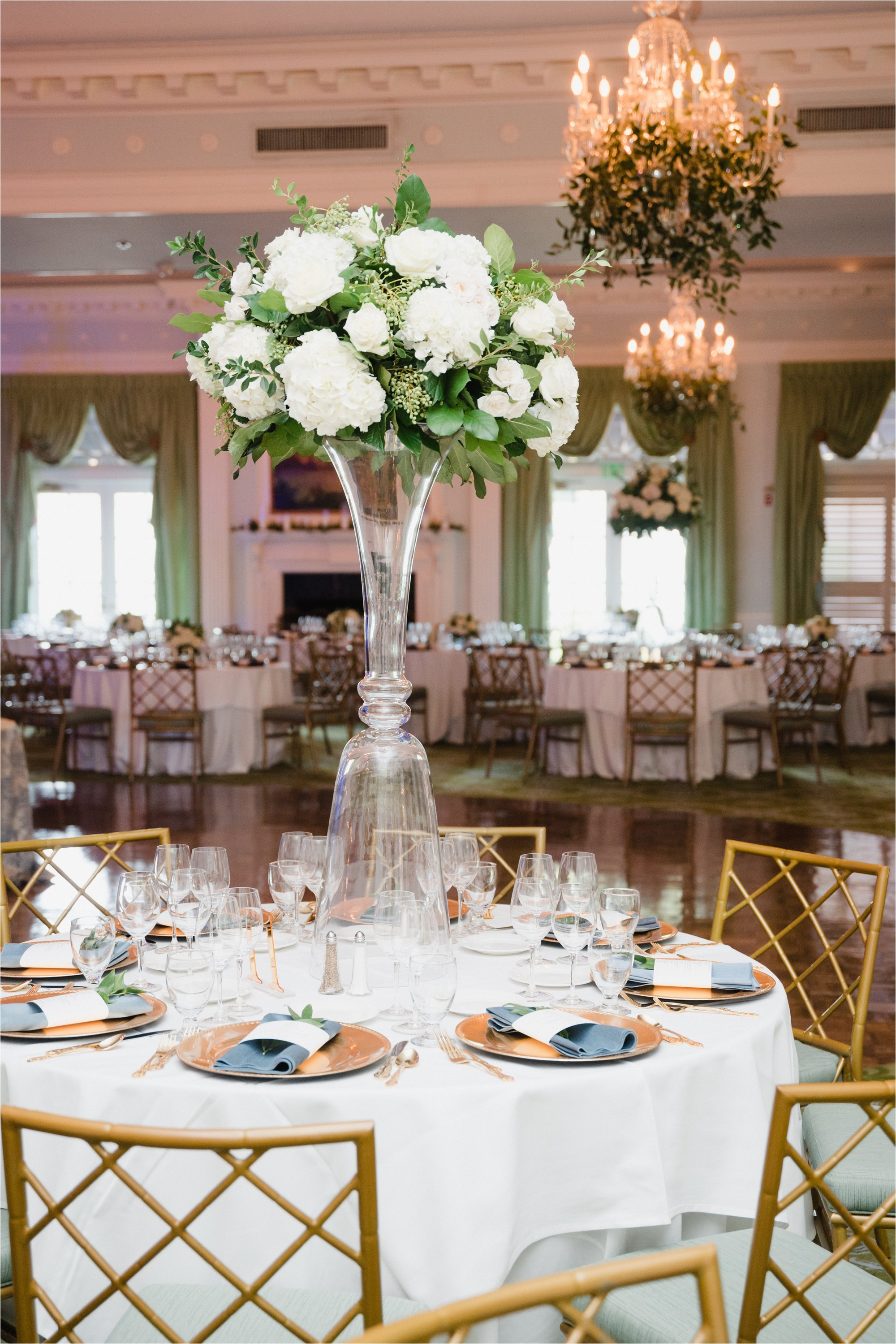 centerpieces at greensboro country club