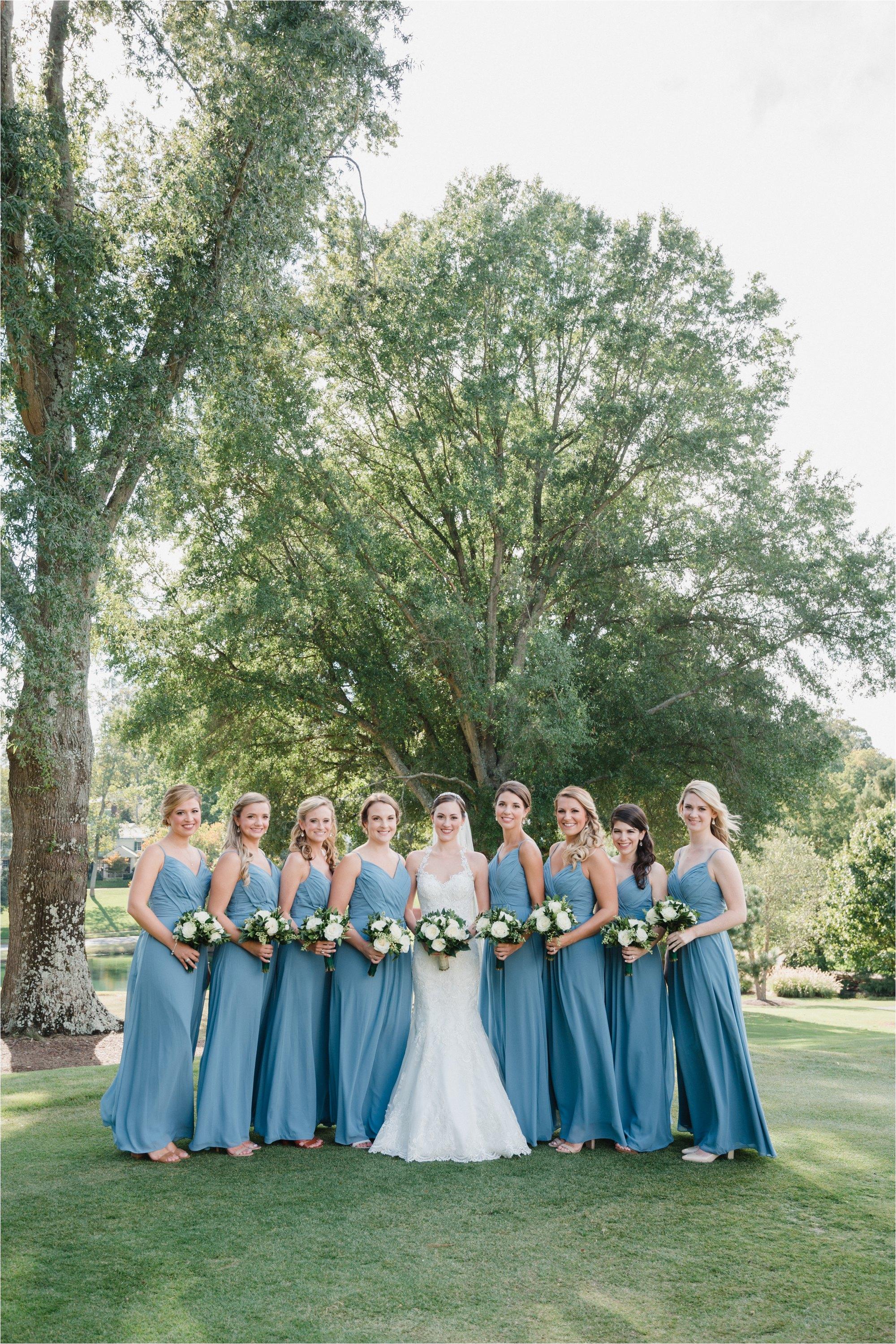 bridal party at greensboro country club