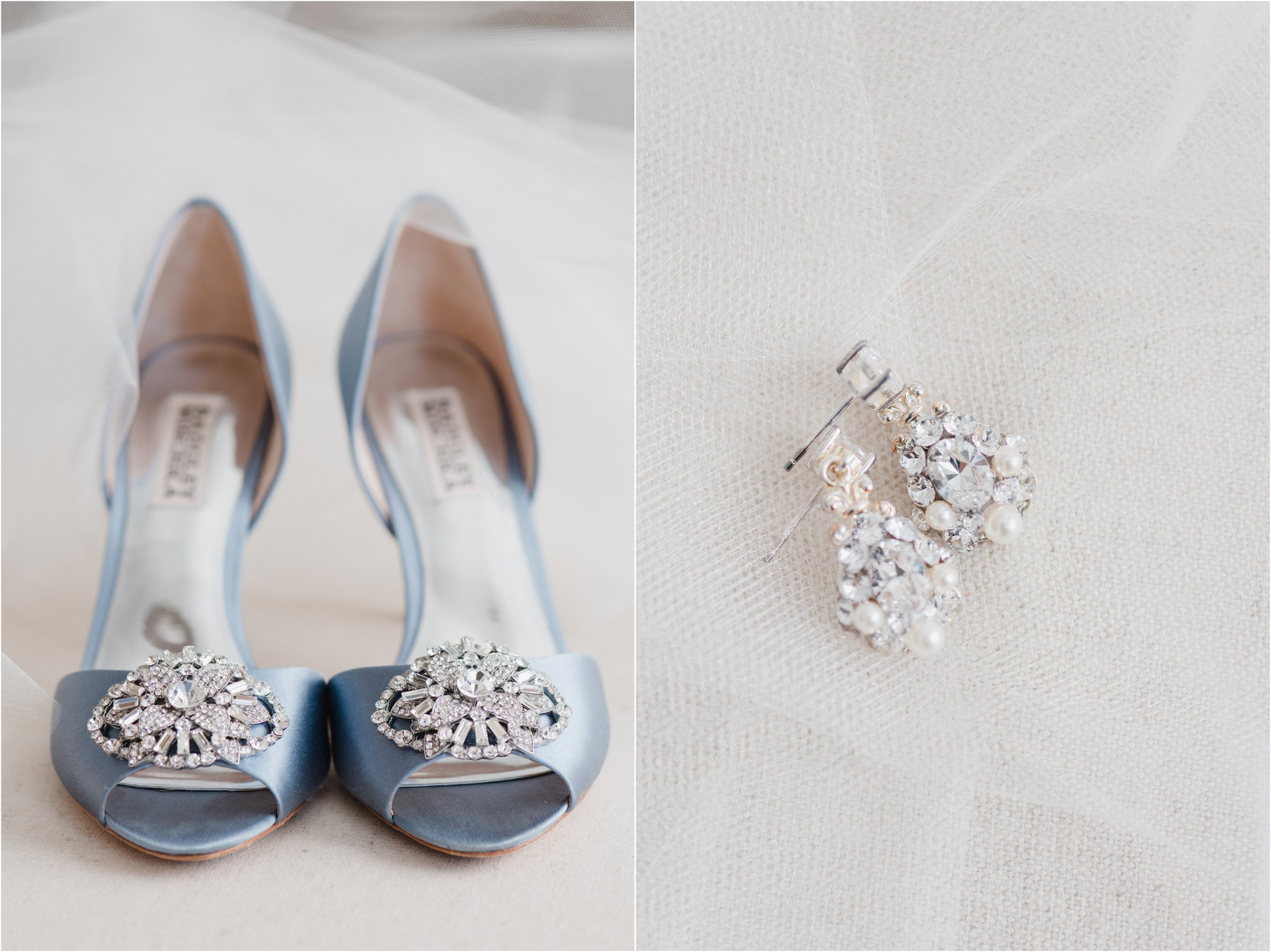 Brides shoes and earrings