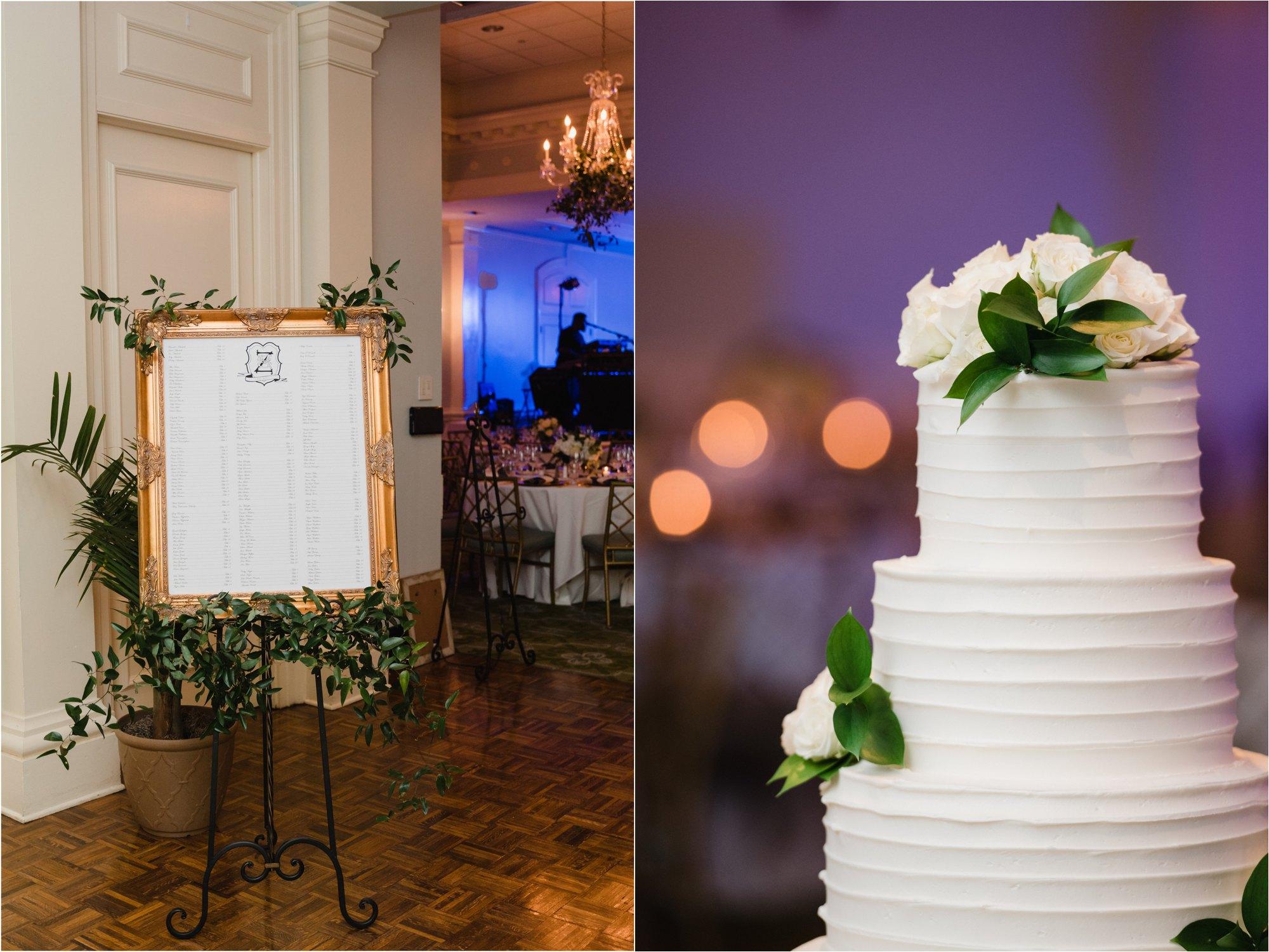 wedding cake and signage
