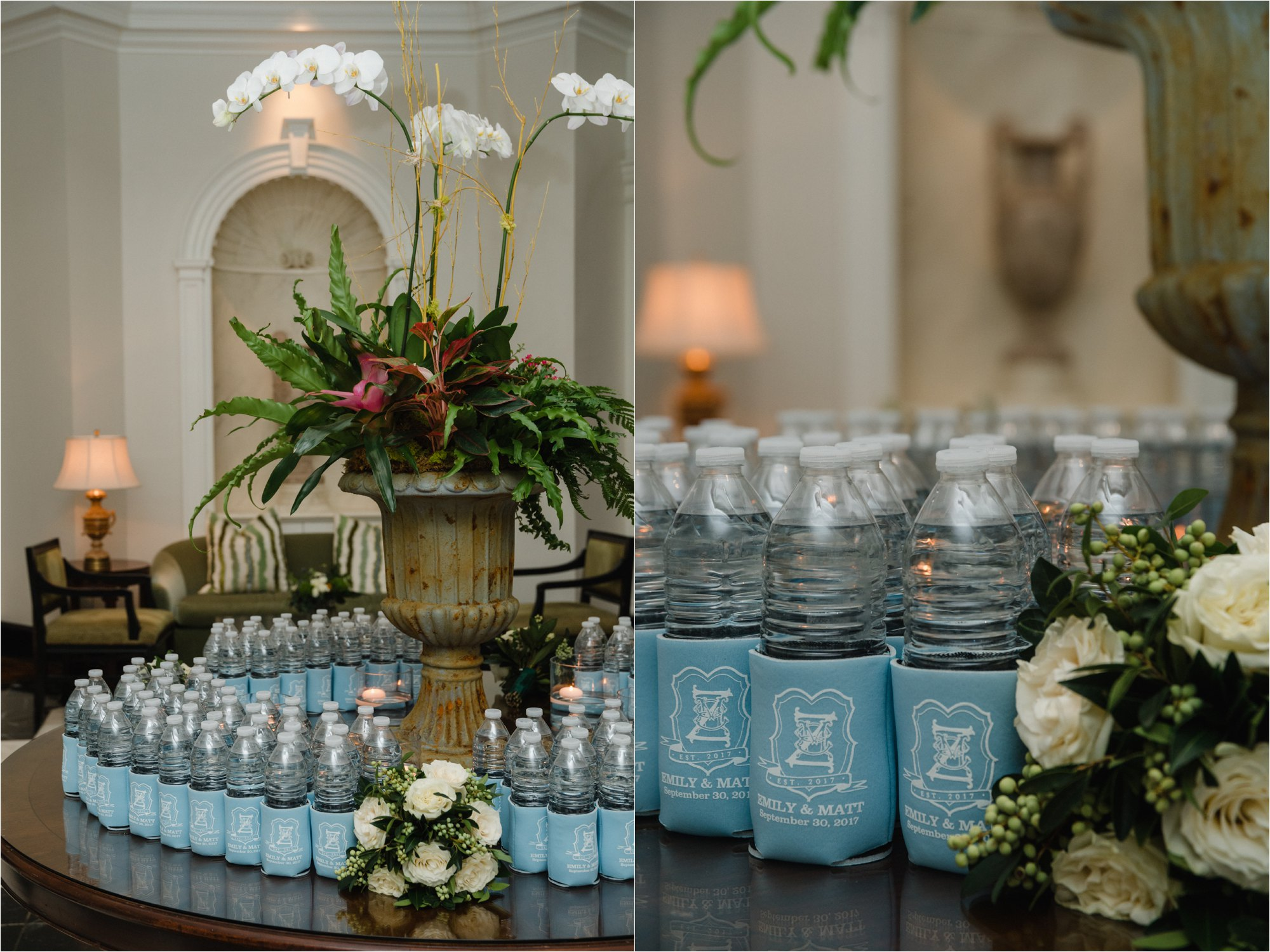 water bottle wedding favors with coozie